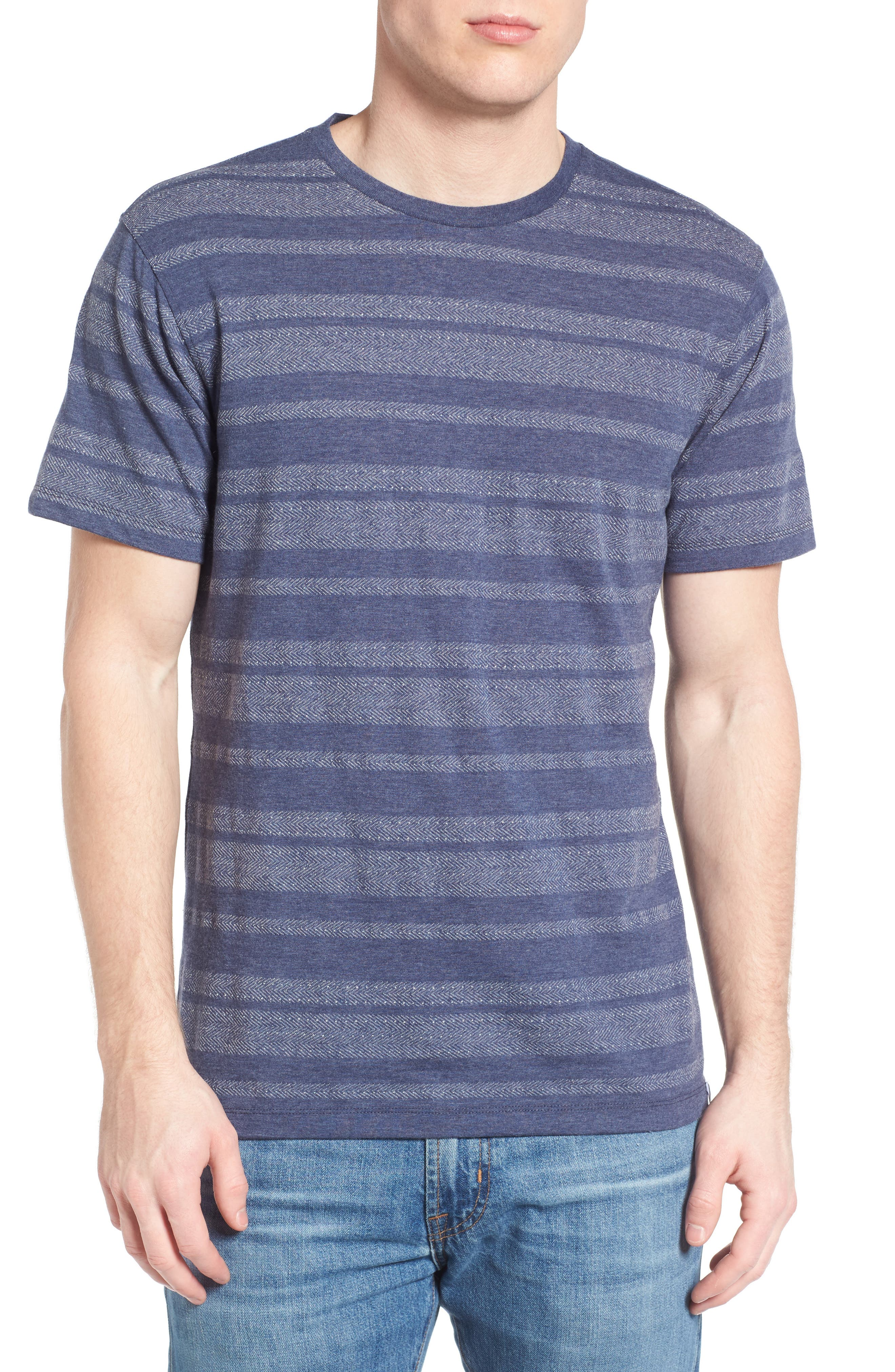 1901 Jacquard Stripe Crewneck T-Shirt