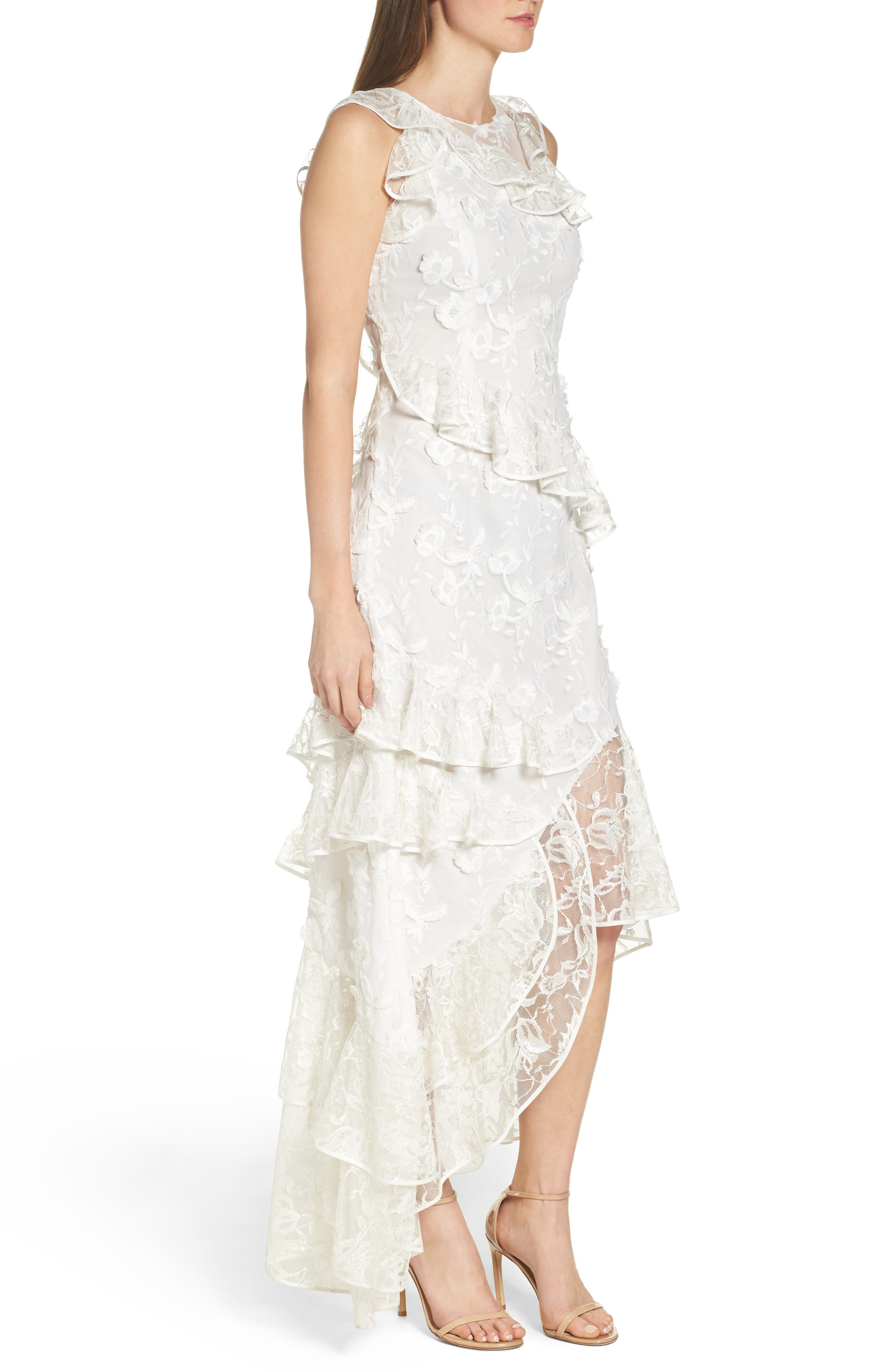 Alternate Image 3  - Sachin & Babi Noir Prima Asymmetrical Mesh Gown