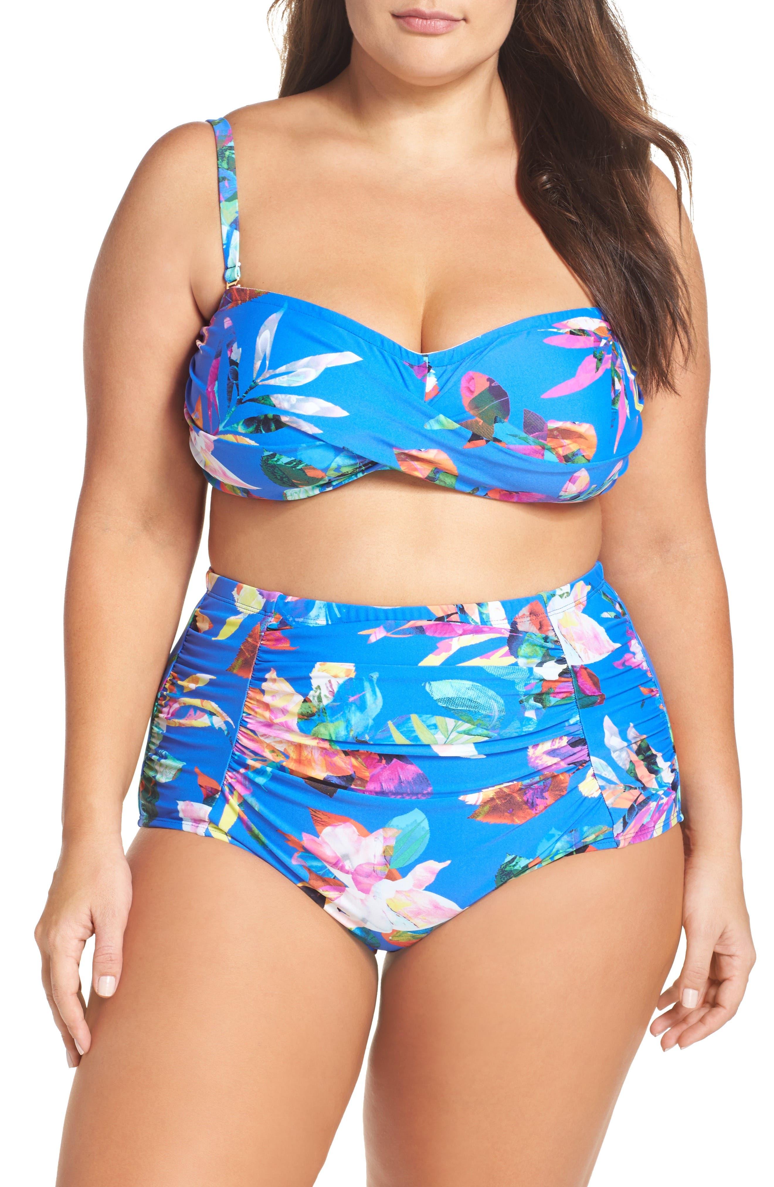 La Blanca Bikini Top & Bottoms (Plus Size)