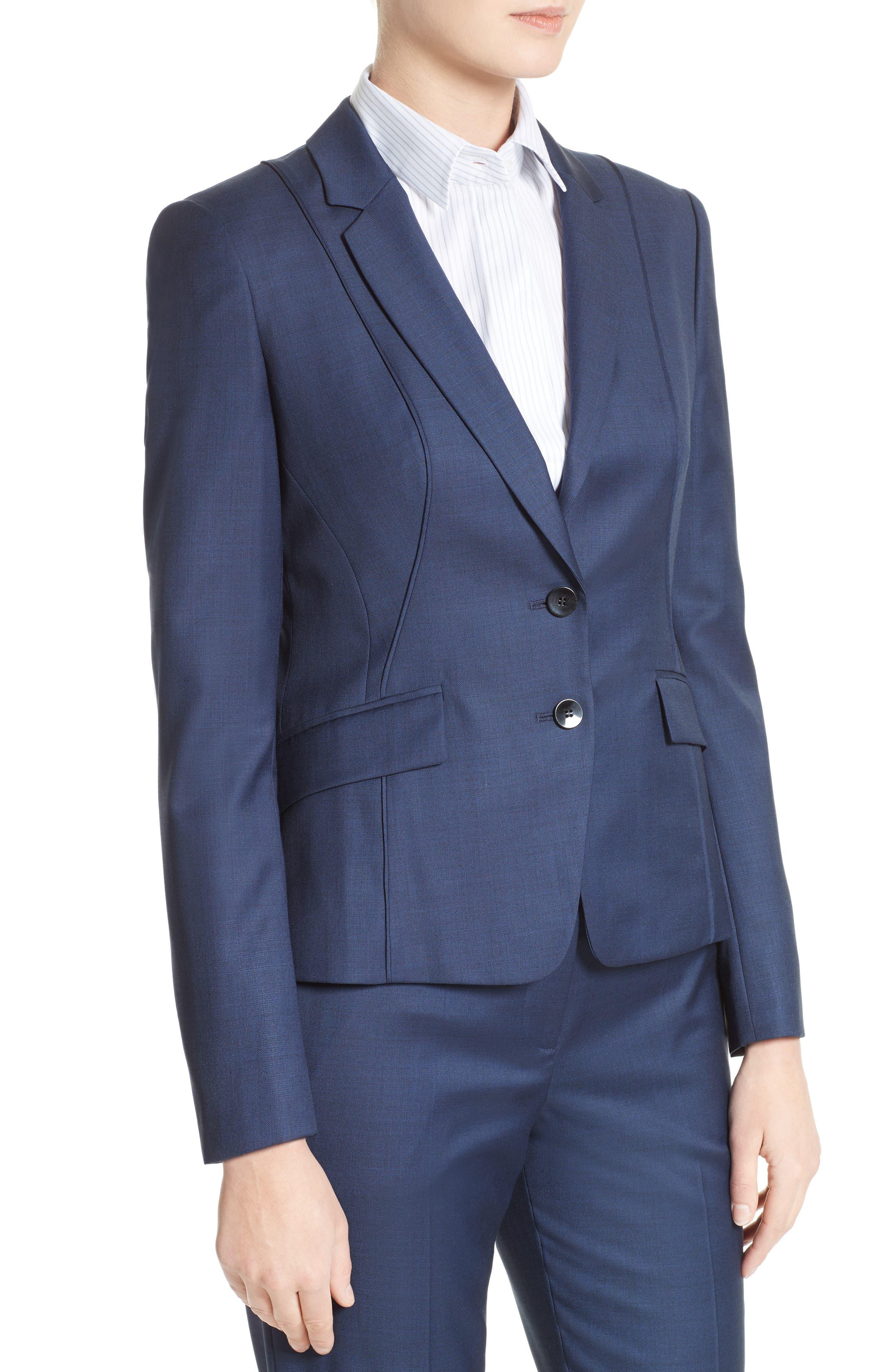 BOSS Jenesa Stretch Wool Blend Suit Jacket (Regular & Petite)
