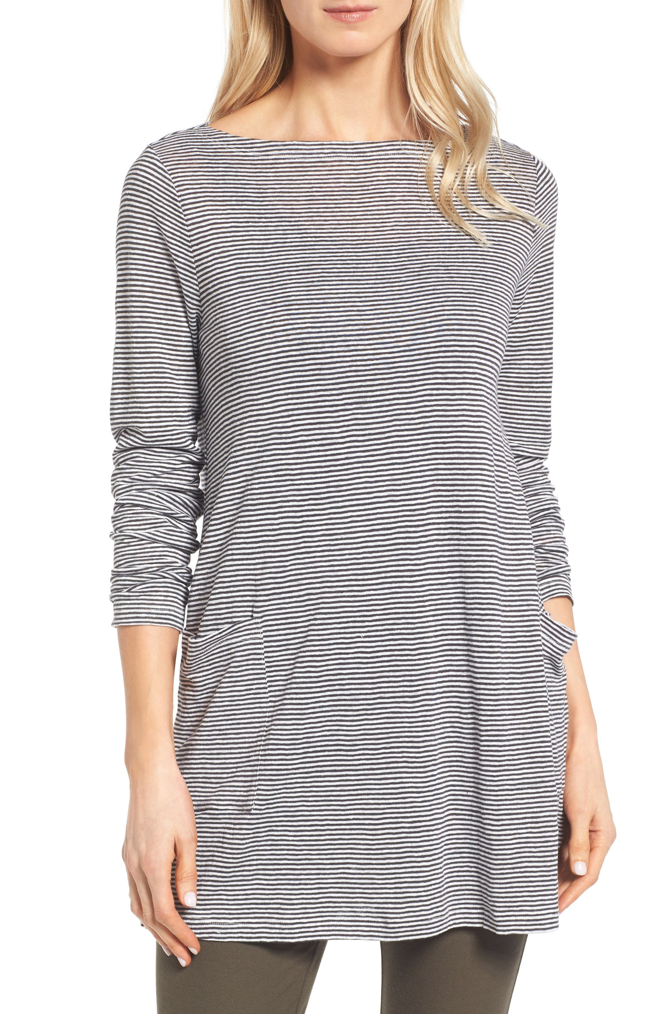 Alternate Image 1 Selected - Eileen Fisher Organic Linen Knit Tunic