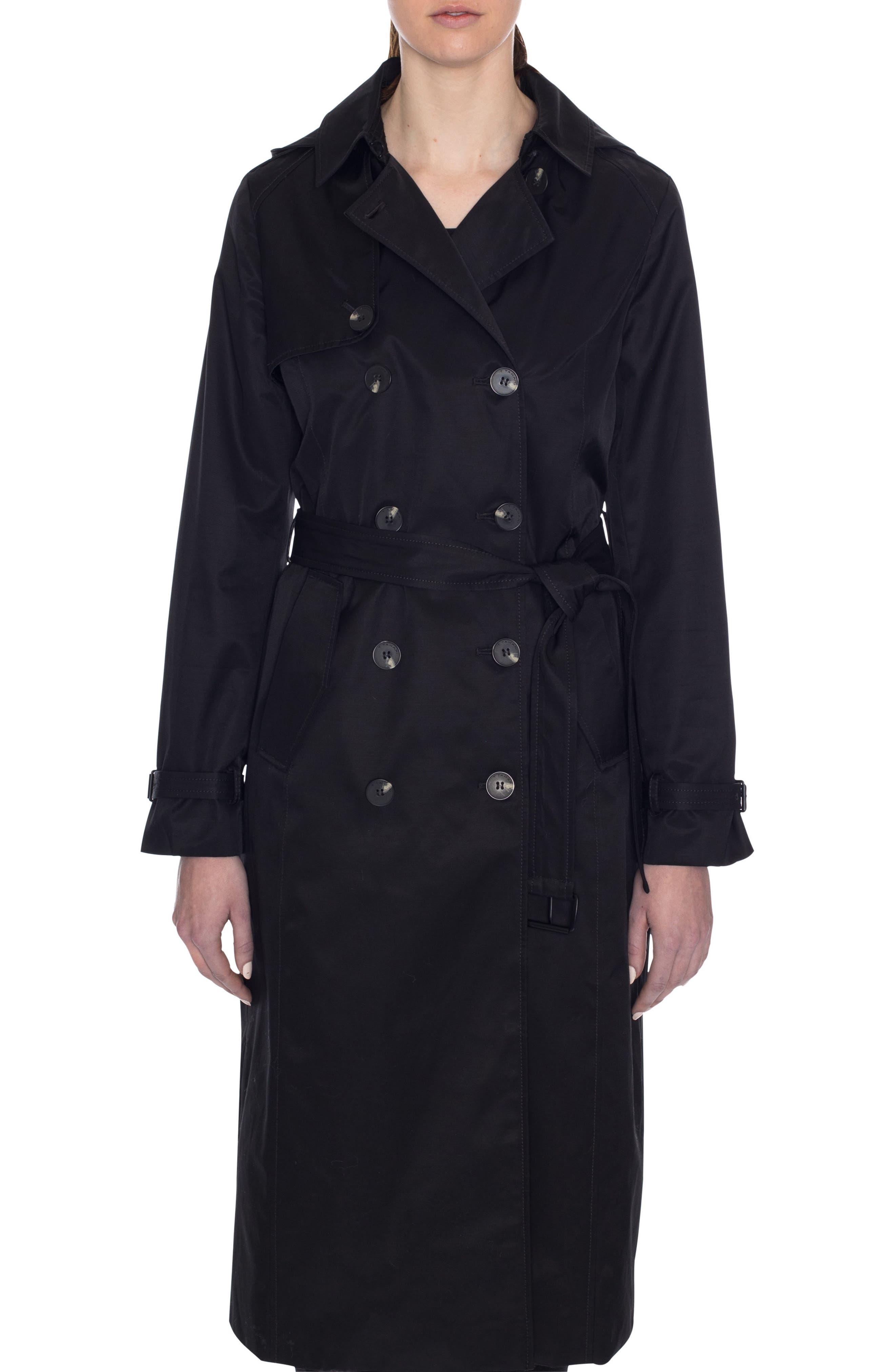 Tahari Lauren Long Hooded Trench Coat