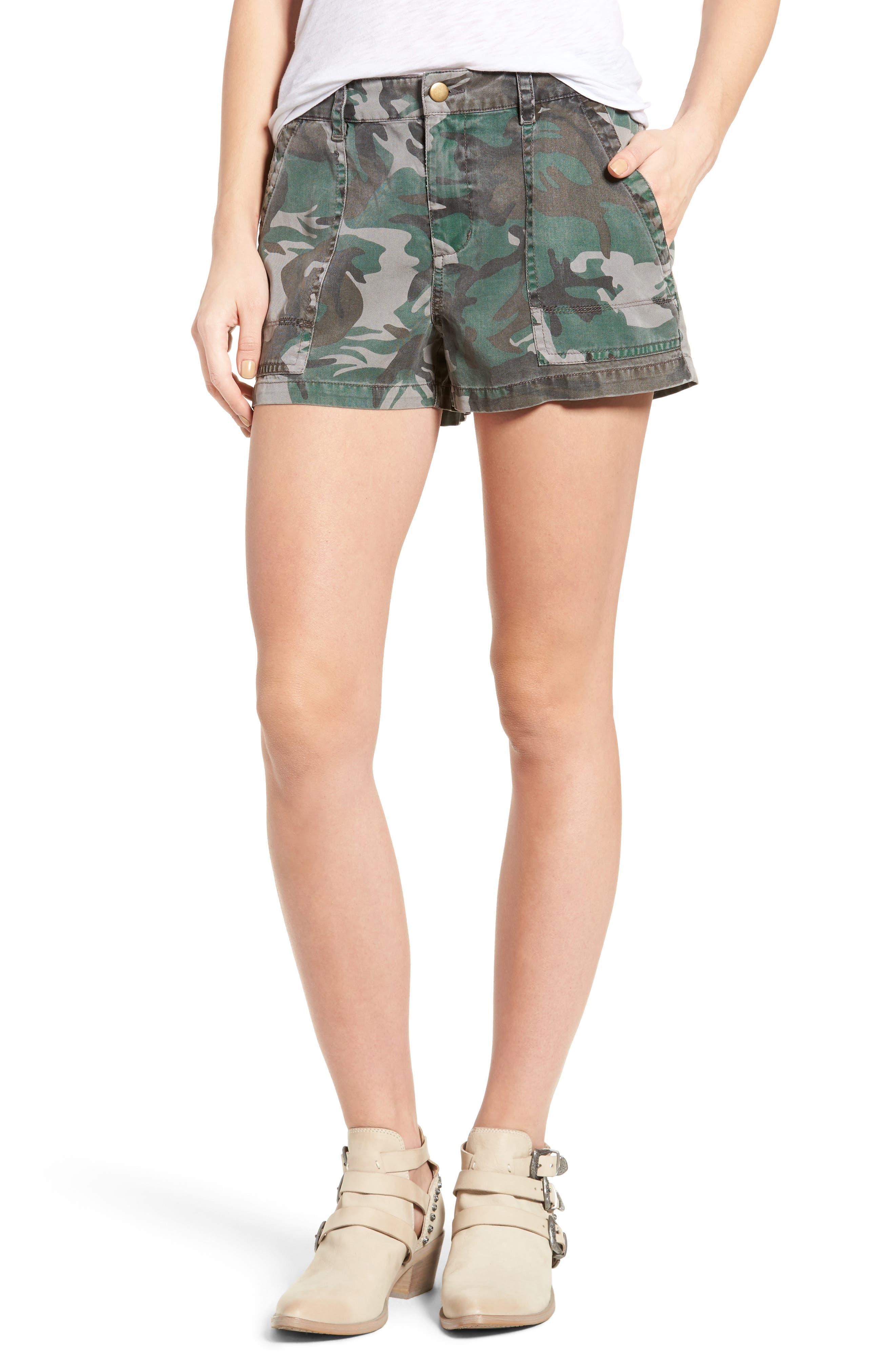 Pam & Gela Camo Twill Shorts