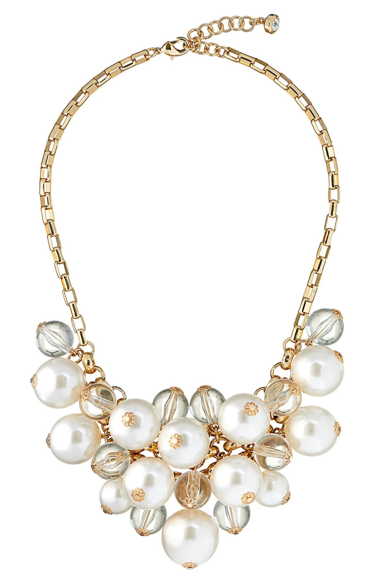 Main Image - Ted Baker London Galini Imitation Pearl Cluster Necklace