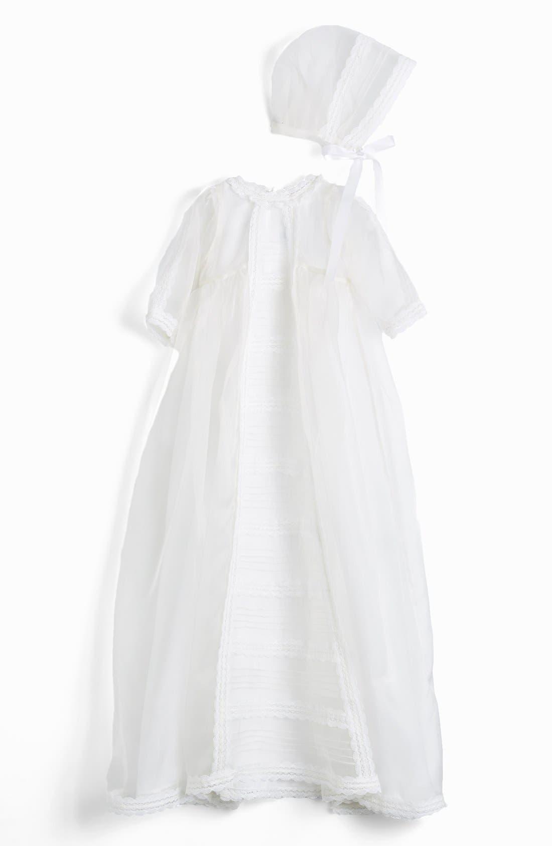 ISABEL GARRETON 'Caress' Silk Organza Christening Gown &