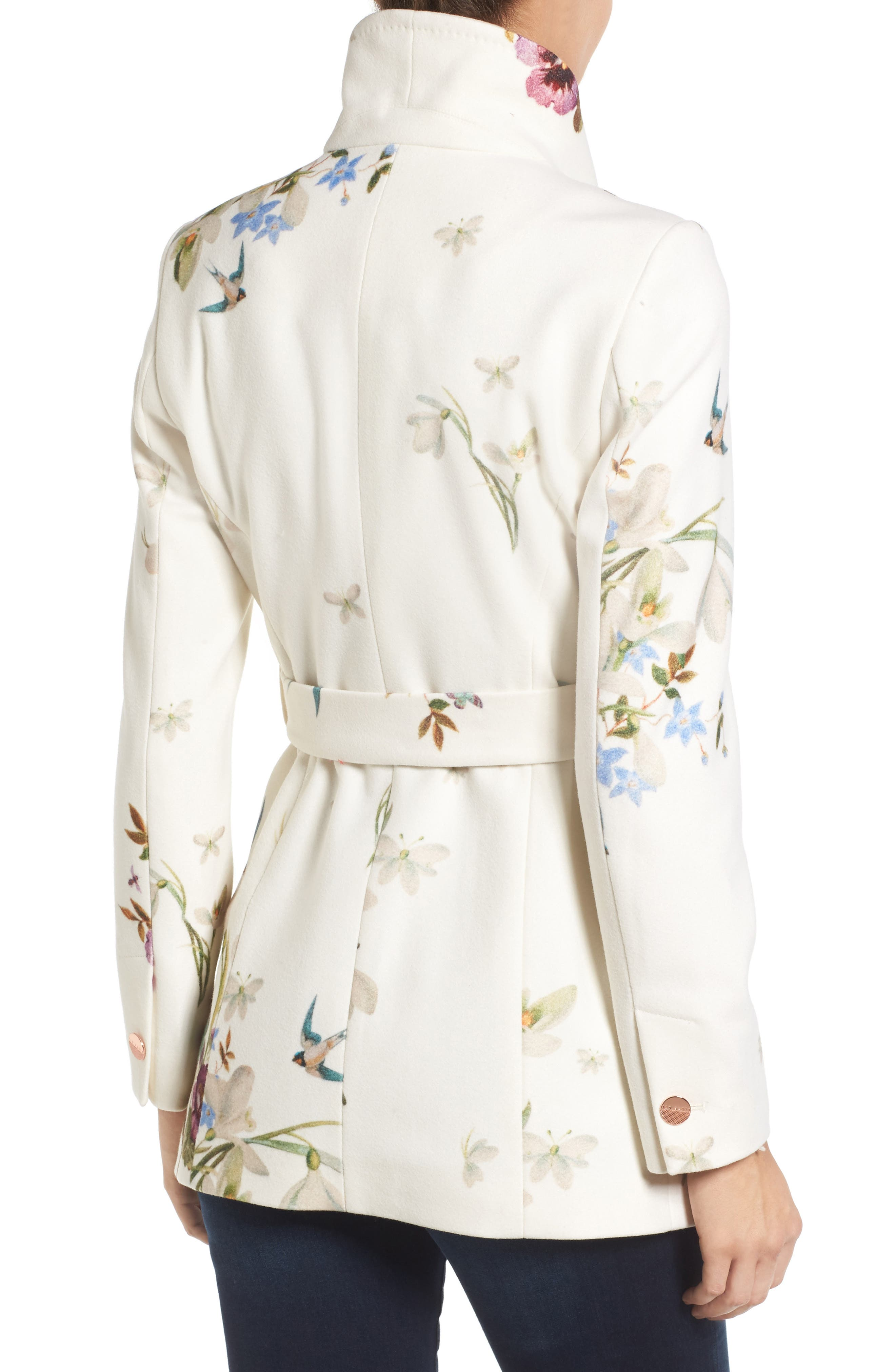 Alternate Image 2  - Ted Baker London Spring Meadow Wool Blend Wrap Coat