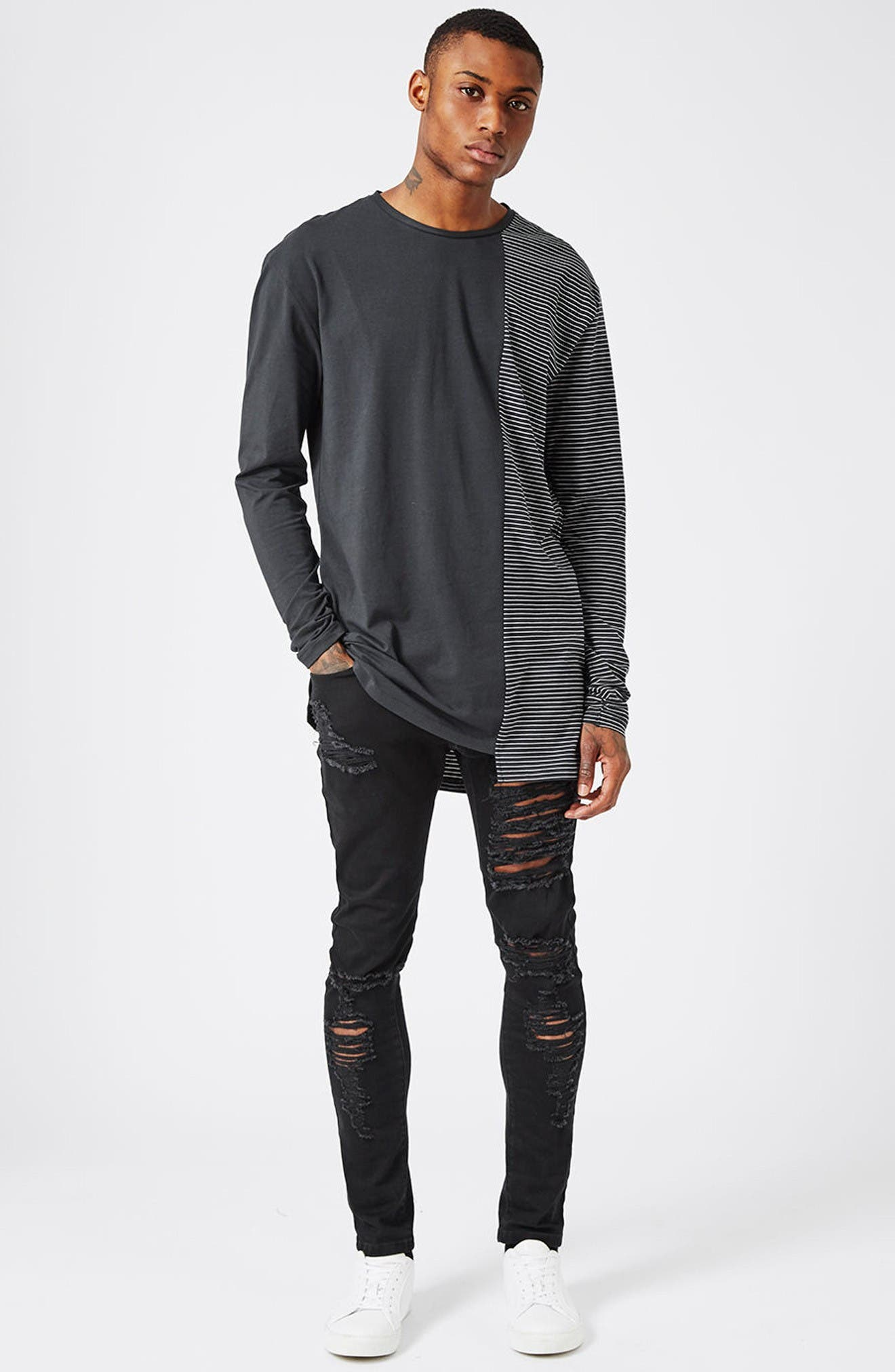 Alternate Image 2  - Topman AAA Collection Ripped Stretch Skinny Jeans