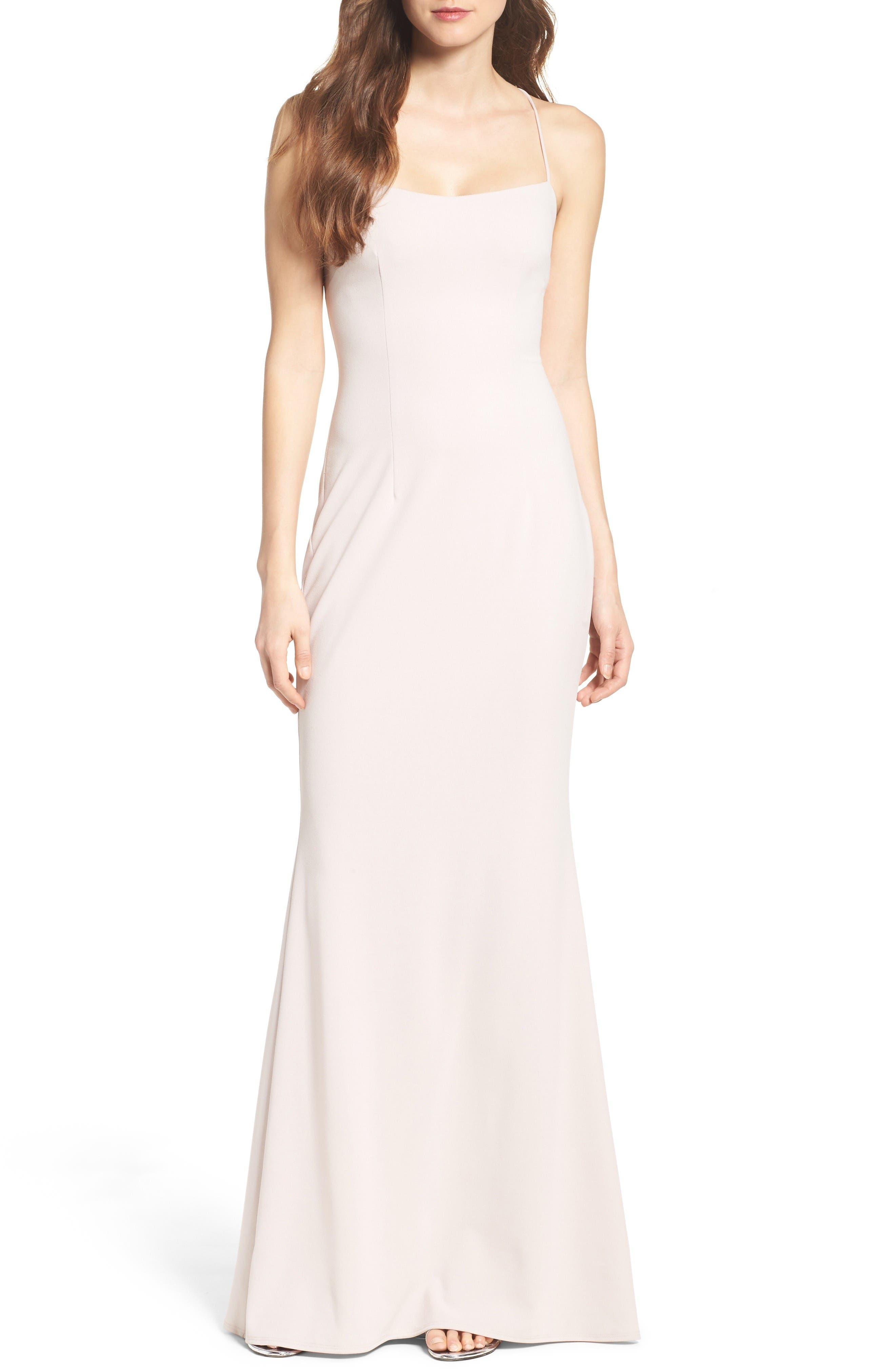 Alternate Image 1 Selected - Katie May Jean Stretch Crepe Gown