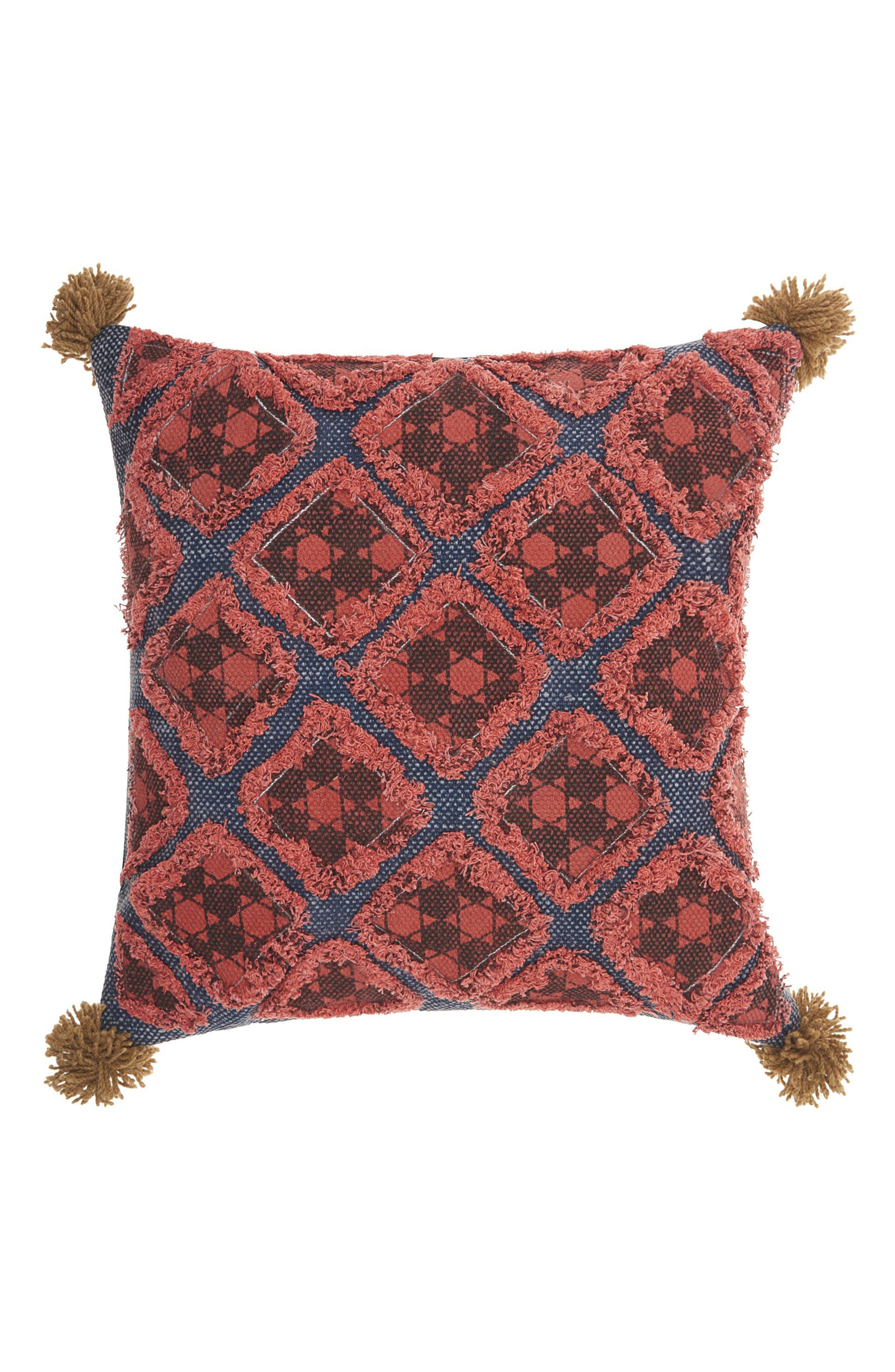 Mina Victory Stonewash Patches Accent Pillow