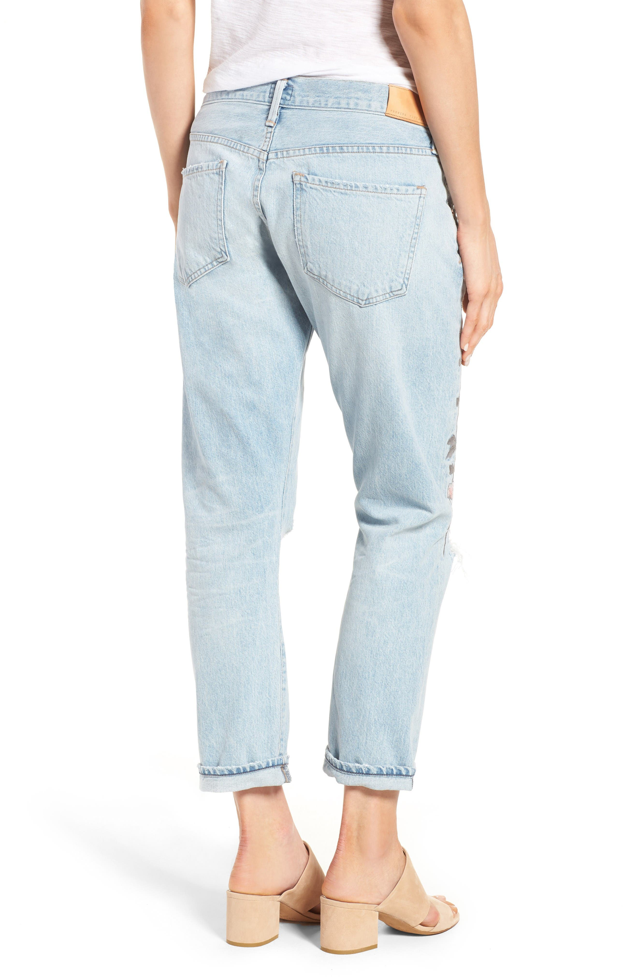 Alternate Image 3  - Citizens of Humanity Emerson Slim Boyfriend Jeans (Distressed Rock on Roses)