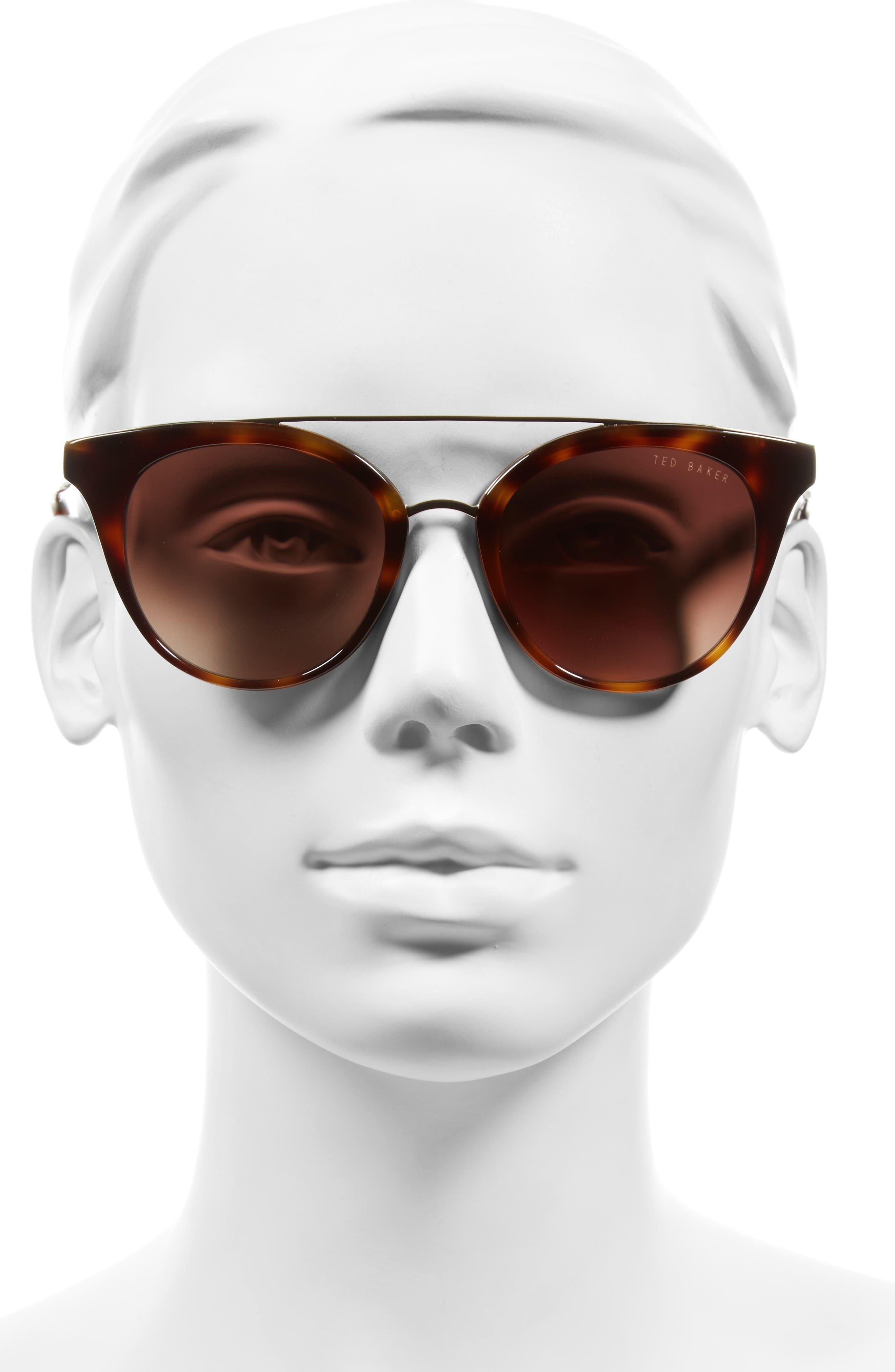 Alternate Image 2  - Ted Baker London 51mm Gradient Lens Round Retro Sunglasses