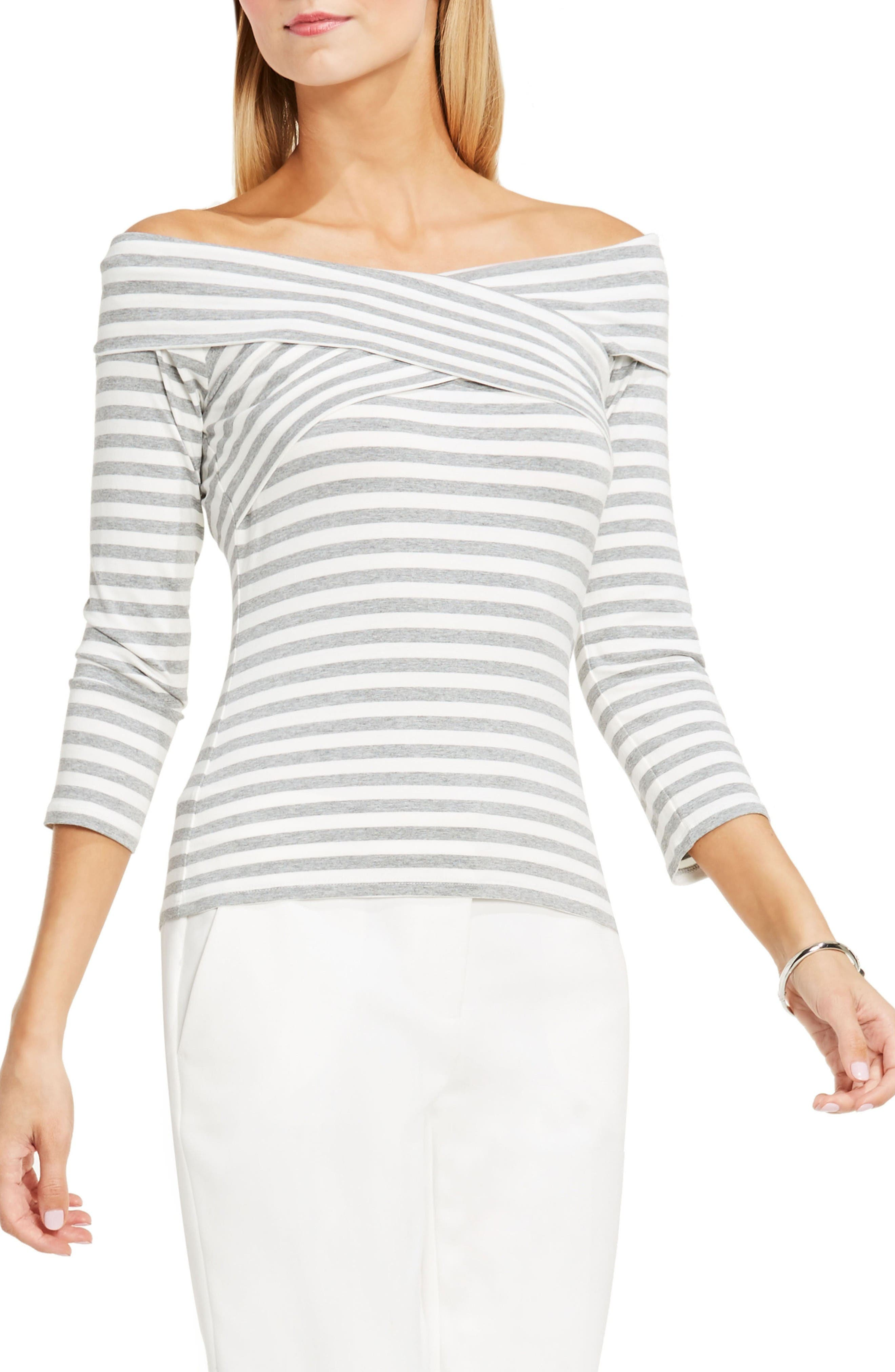 Alternate Image 1 Selected - Vince Camuto Stretch Knit Off the Shoulder Top