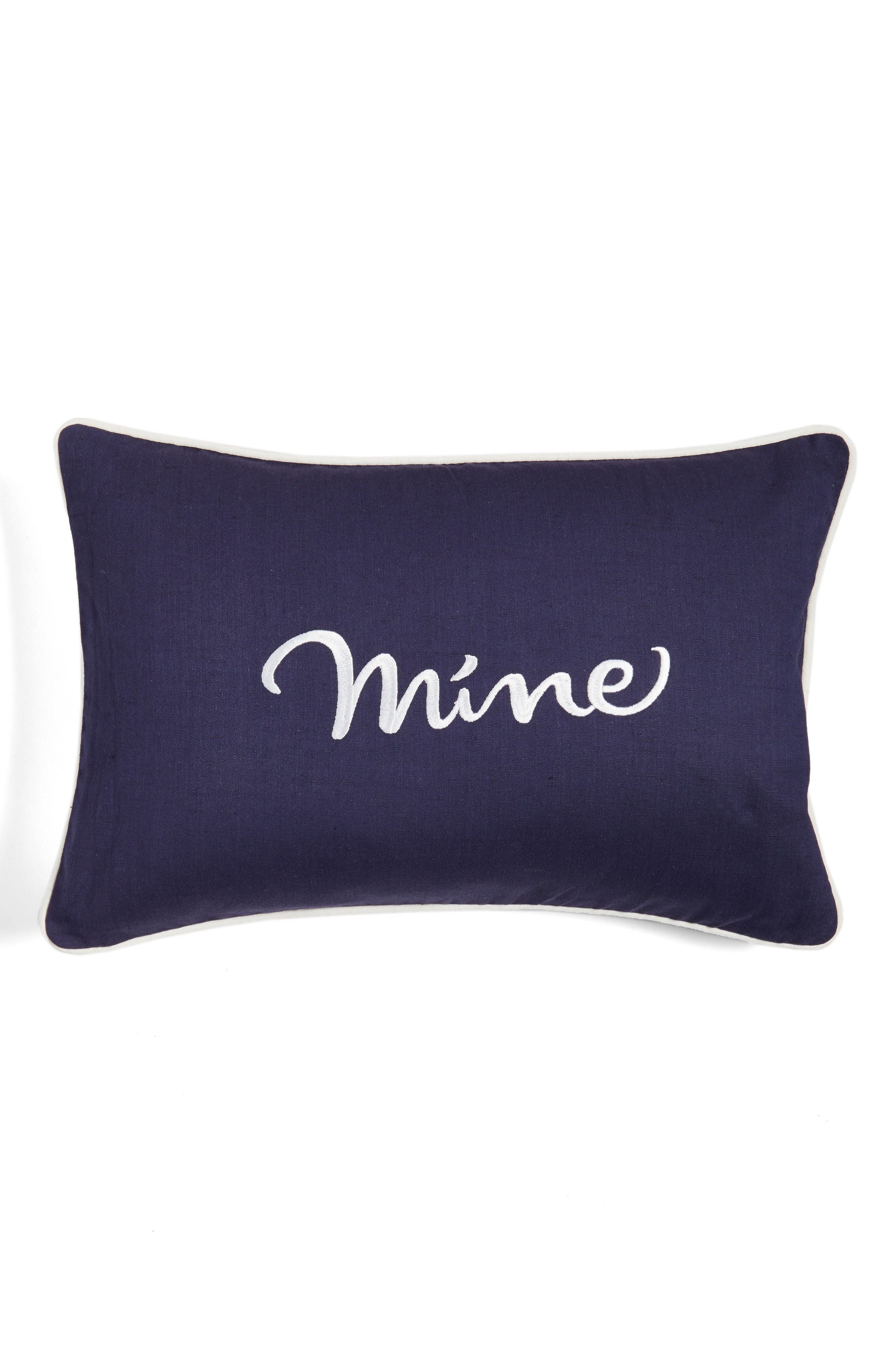 kate spade new york mine/yours accent pillow