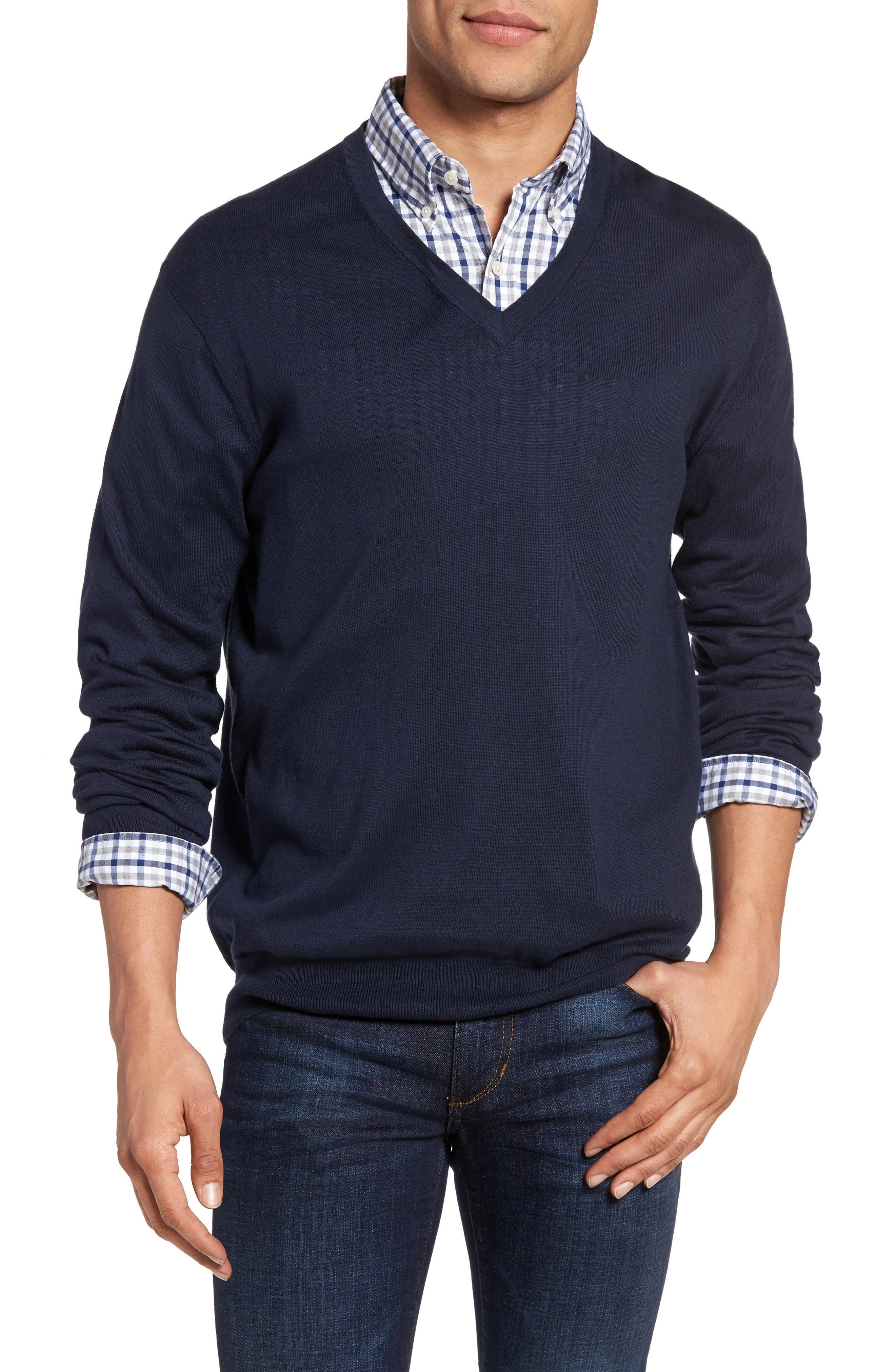 Gant Regular Fit V-Neck Sweater