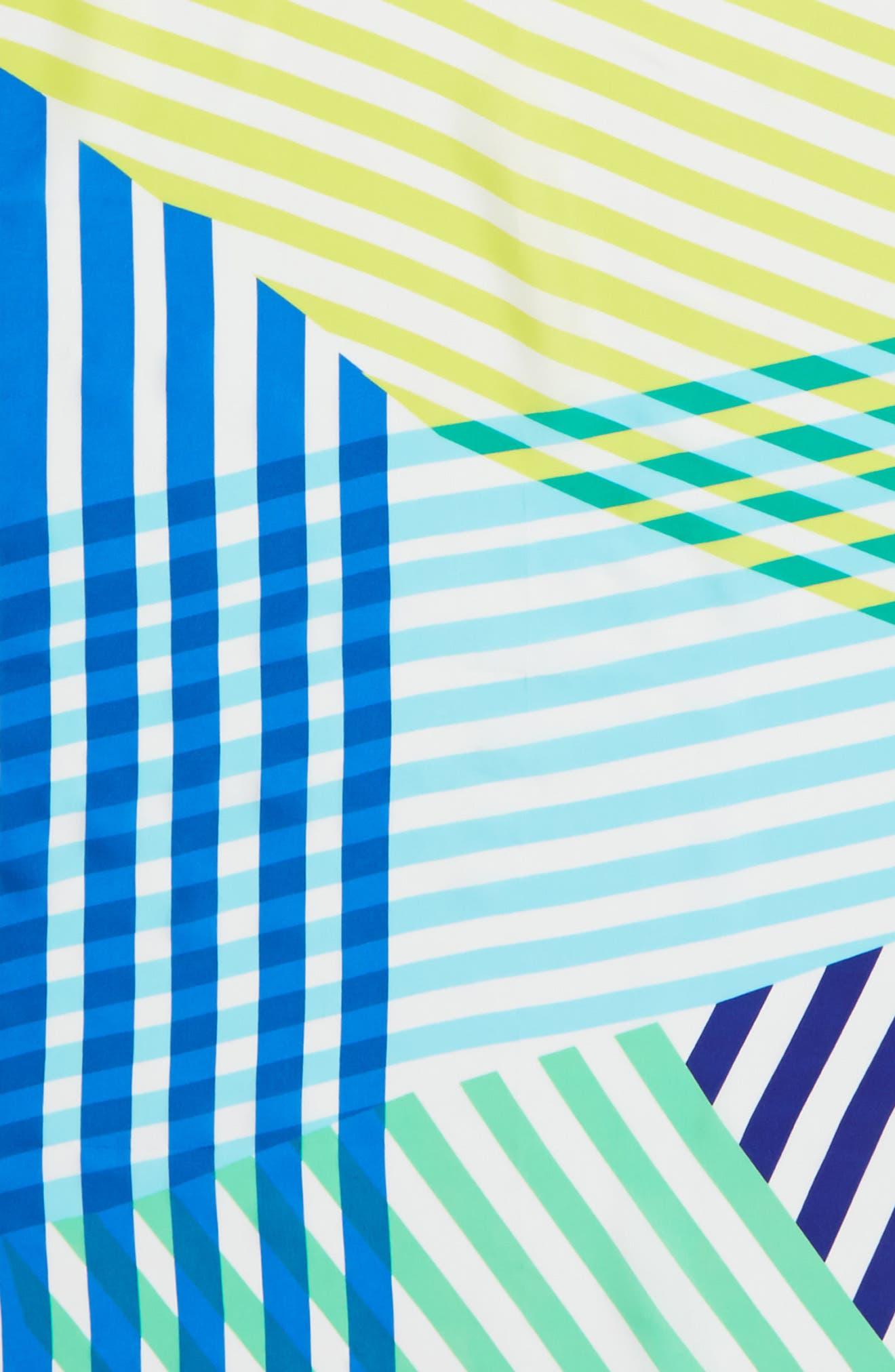 Alternate Image 3  - Echo Cambon Stripe Silk Square Scarf