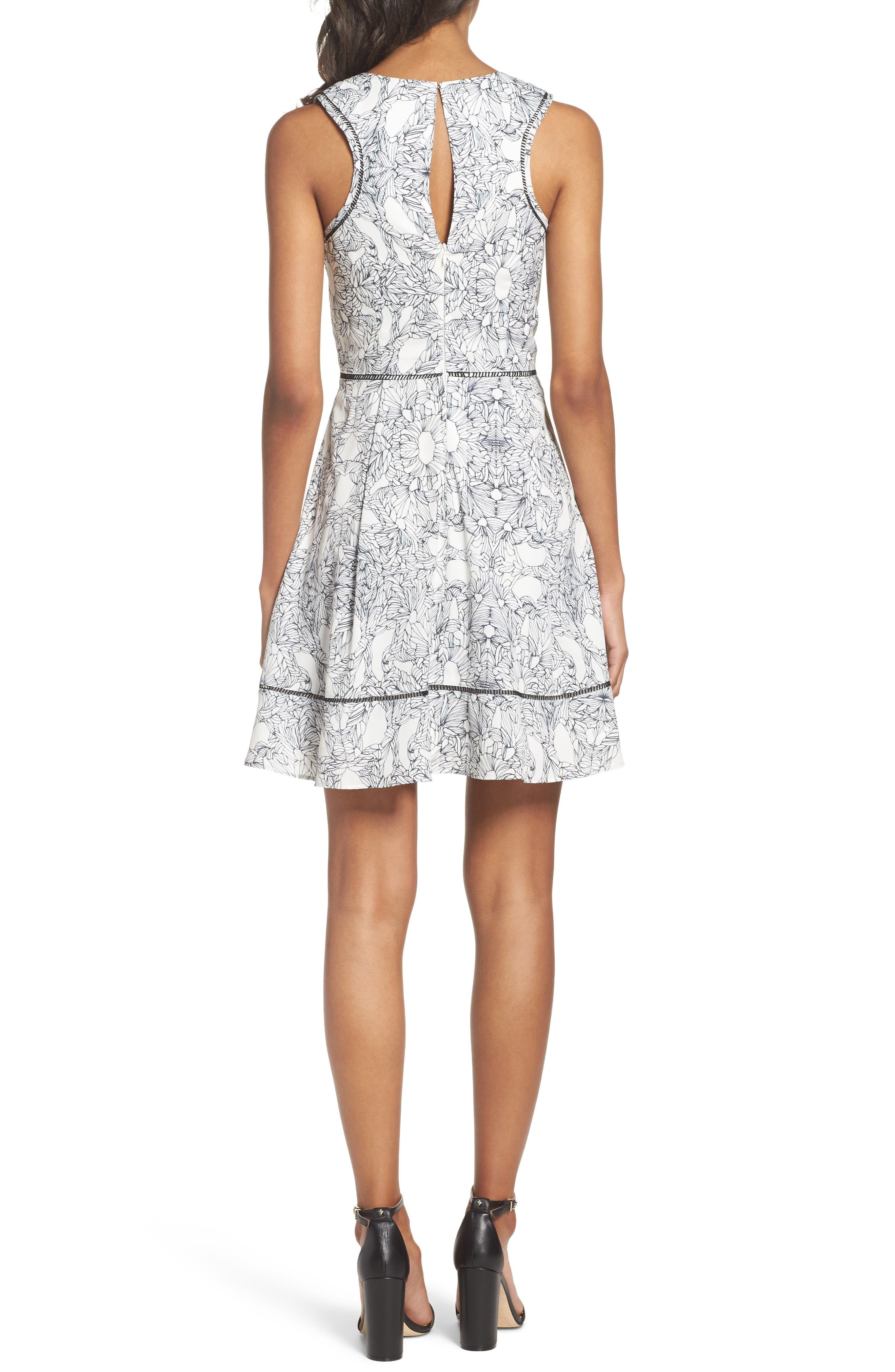 Alternate Image 2  - Adelyn Rae Ruffle Fit & Flare Dress
