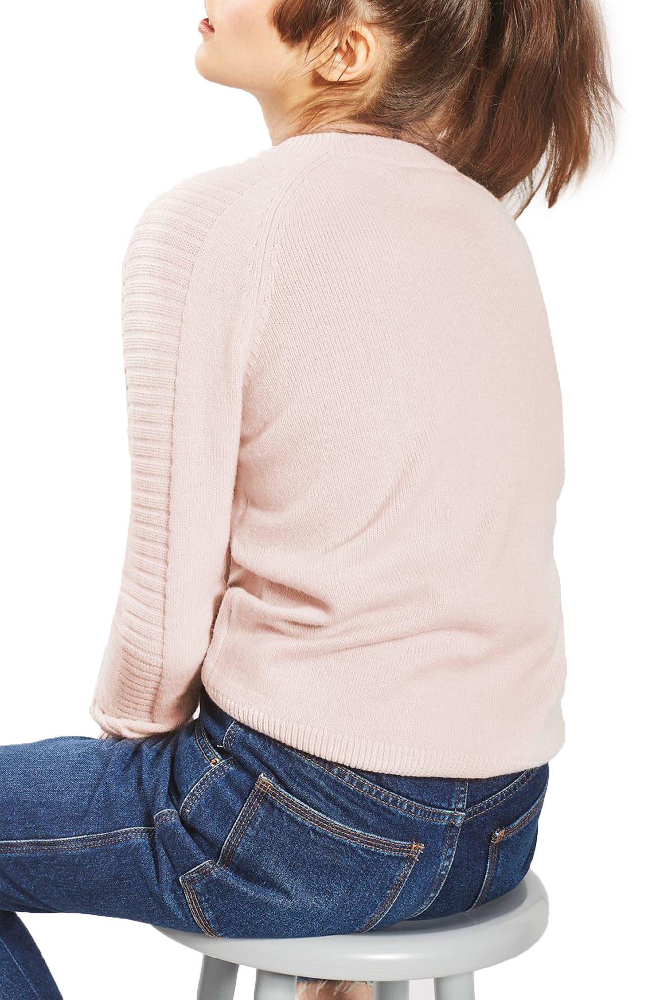 Alternate Image 3  - Topshop Links Panel Sweater