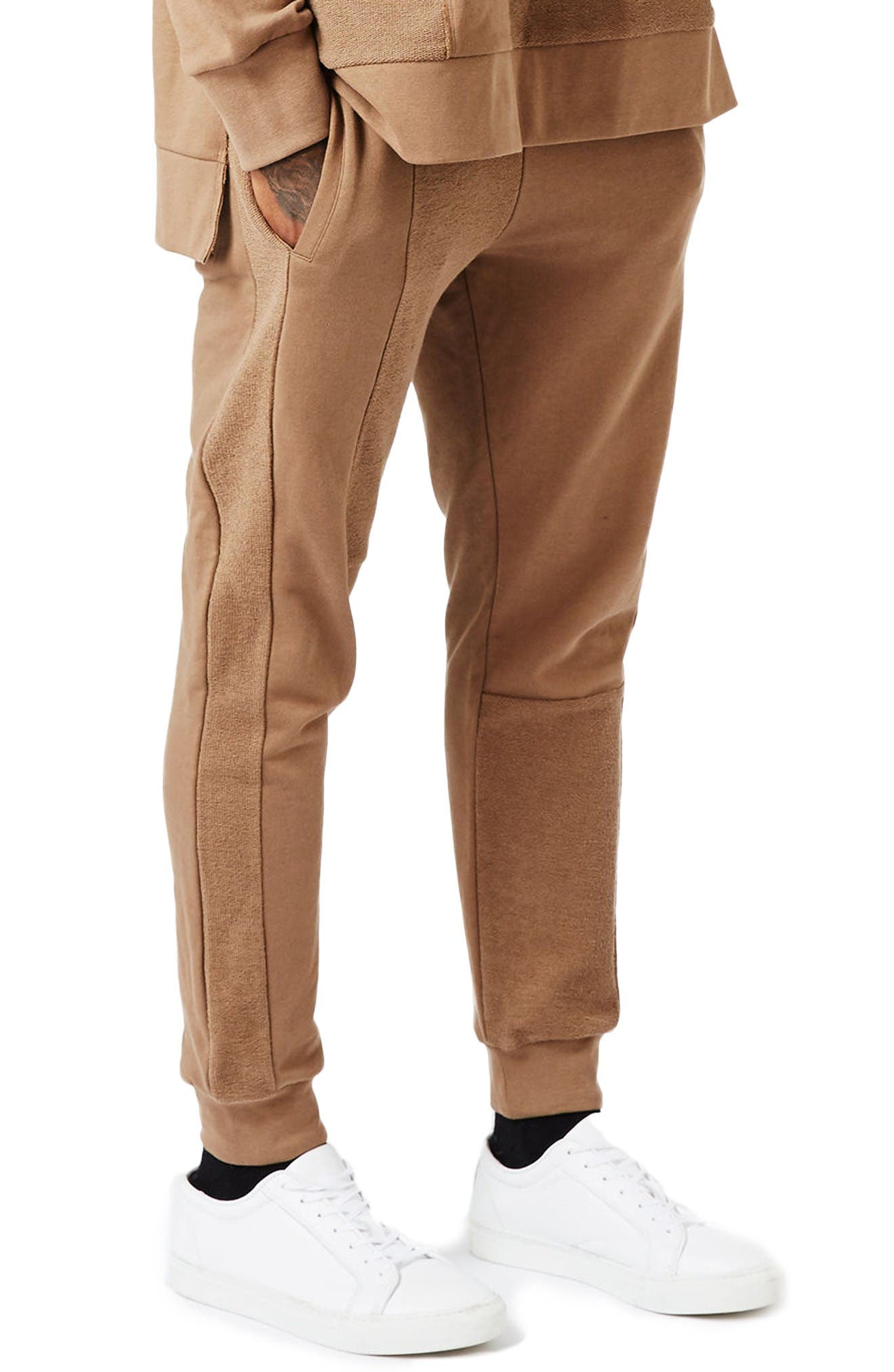 Main Image - Topman AAA Collection Paneled Slim Fit Jogger Pants
