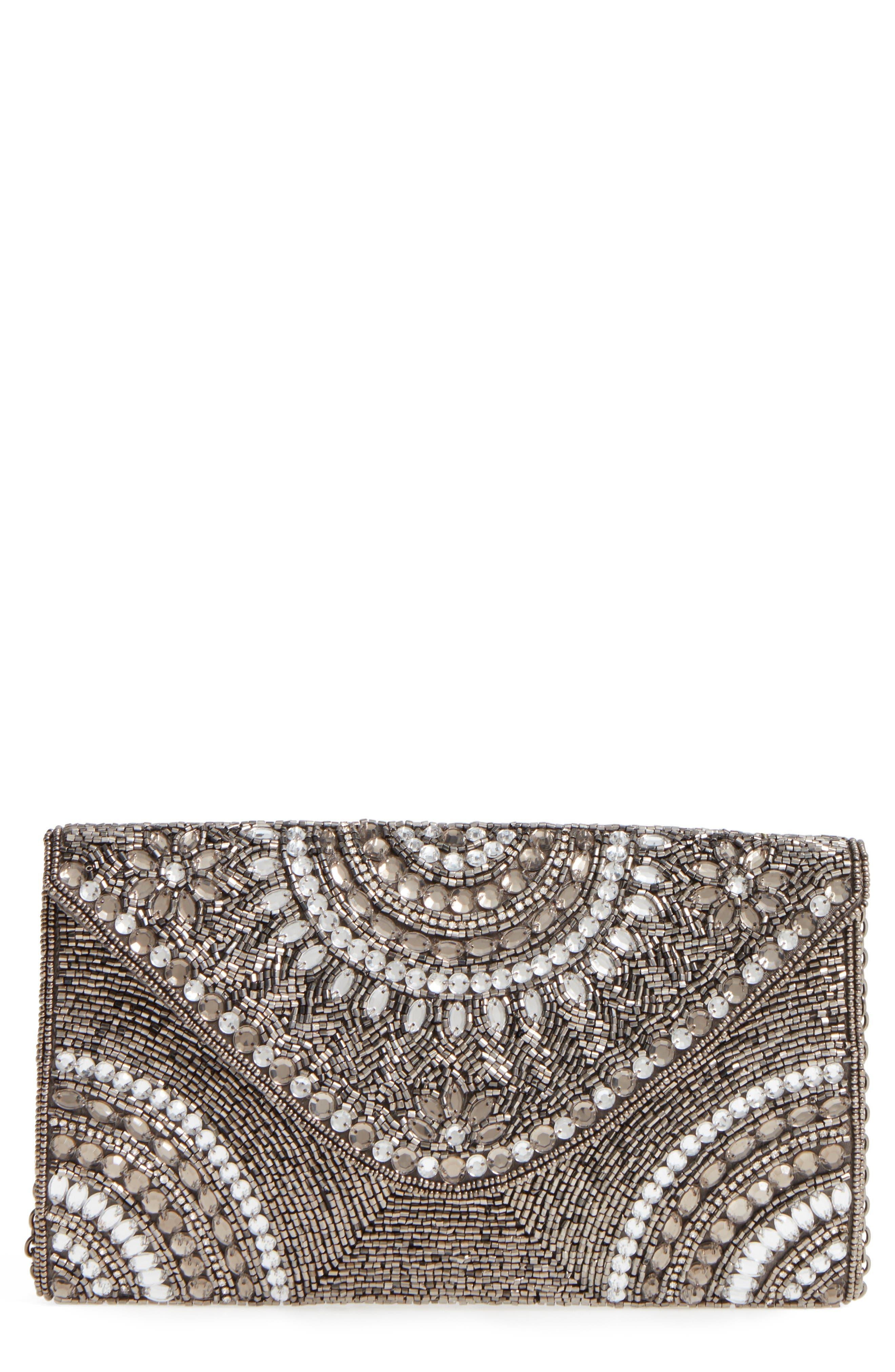 GLINT 'Alhambra' Embellished Envelope Clutch