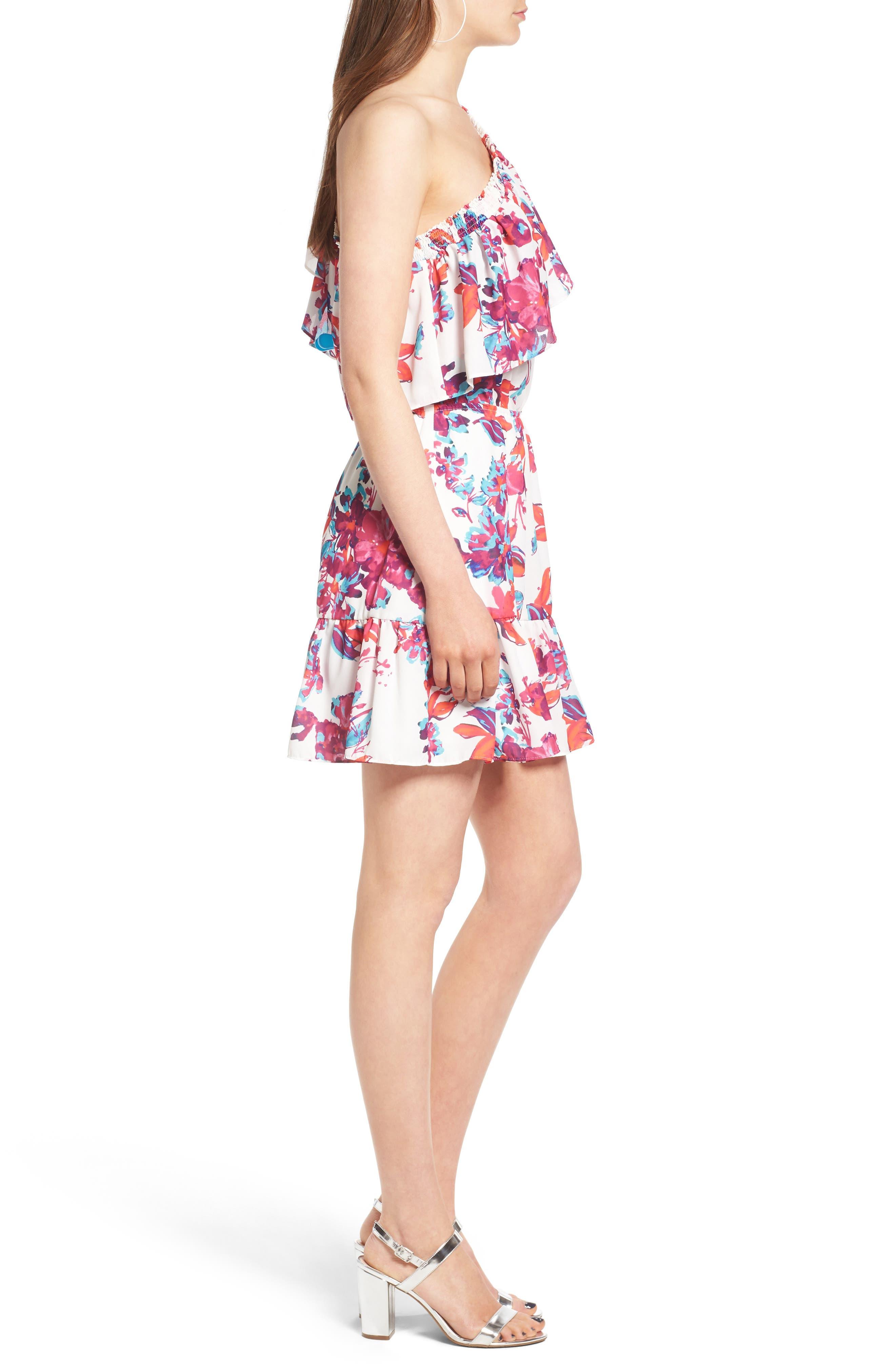 Alternate Image 3  - devlin Thea One-Shoulder Minidress