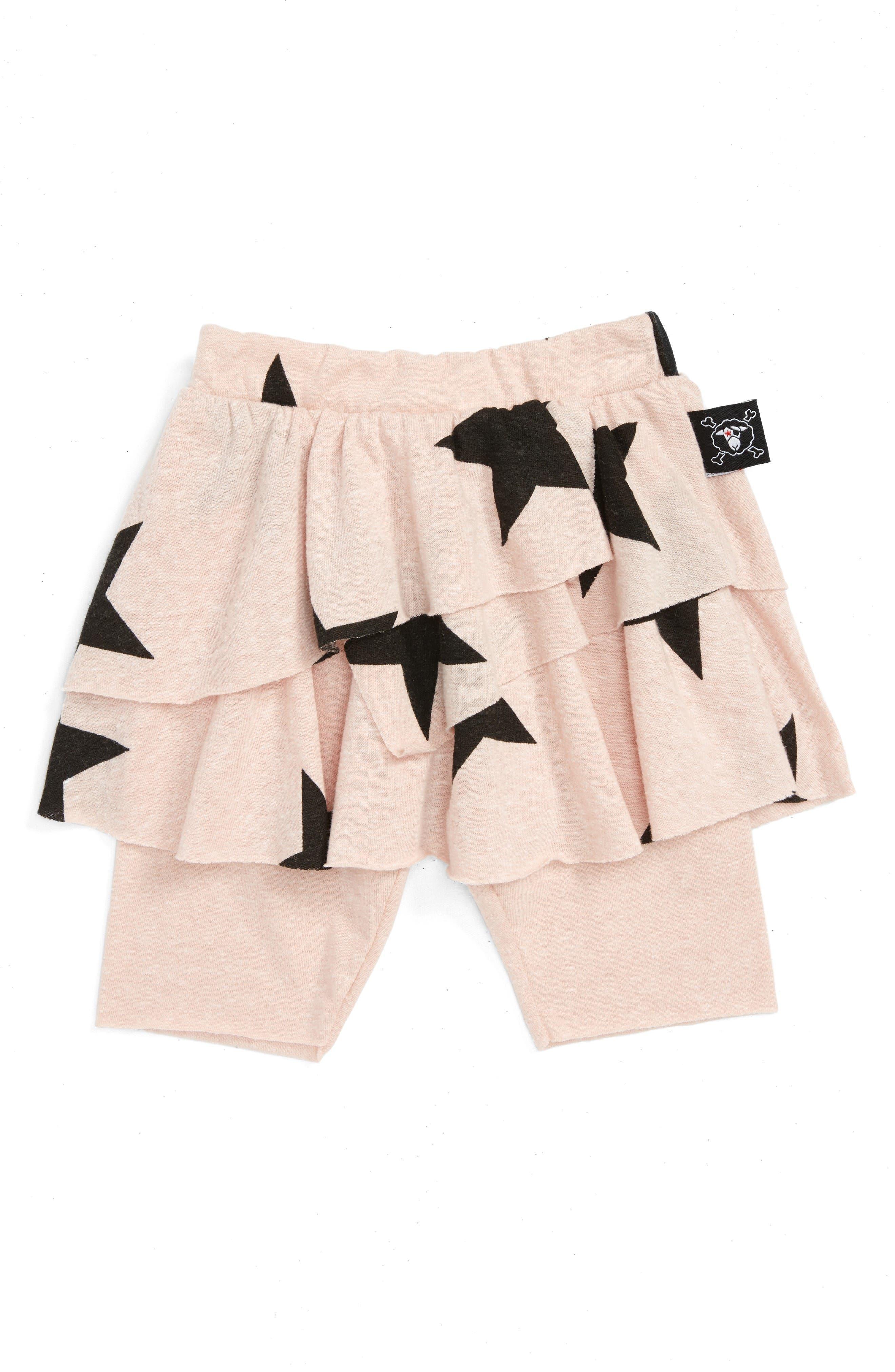 NUNUNU Star Skirted Leggings (Baby Girls)