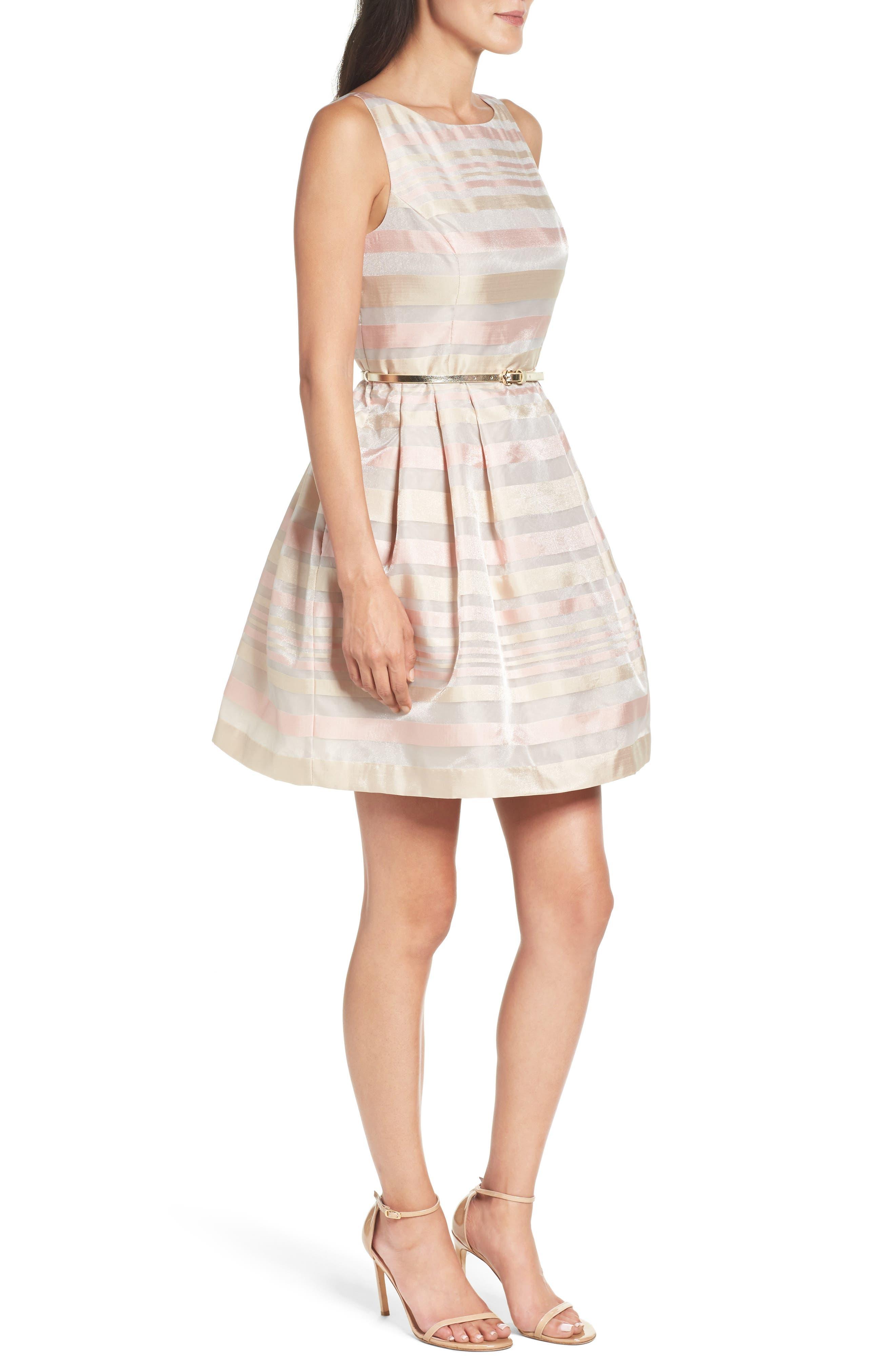 Alternate Image 3  - Eliza J Stripe Fit & Flare Dress