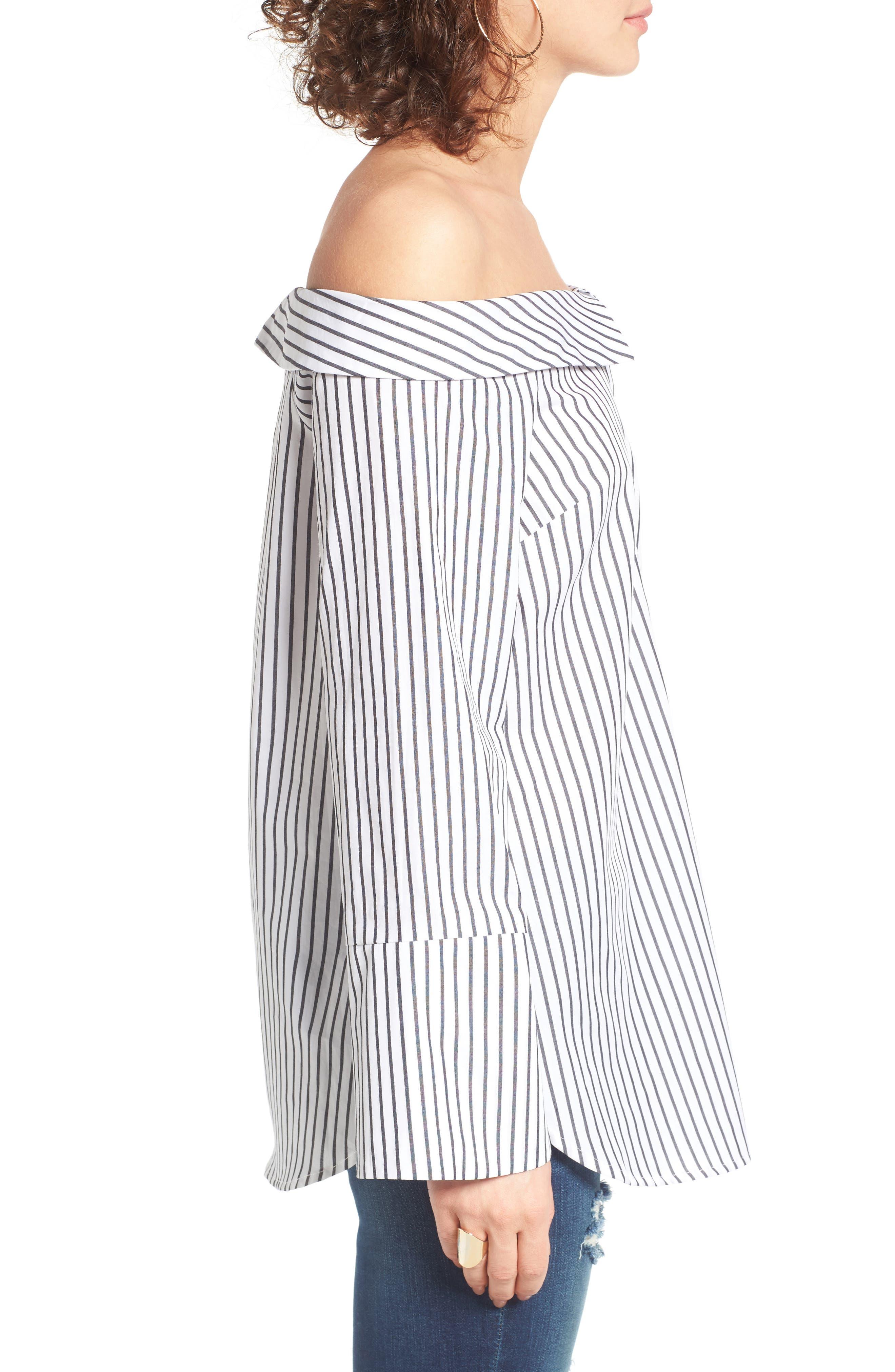 Alternate Image 3  - Lush Stripe Off the Shoulder Top