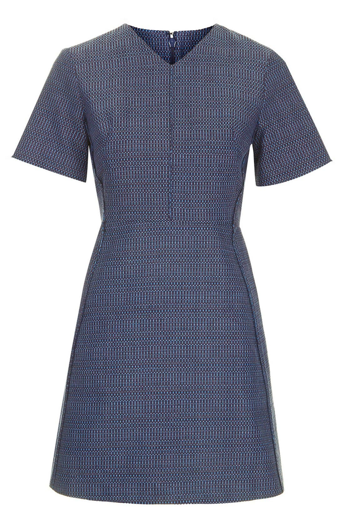 Alternate Image 3  - Topshop Raw Seam Bouclé Shift Dress