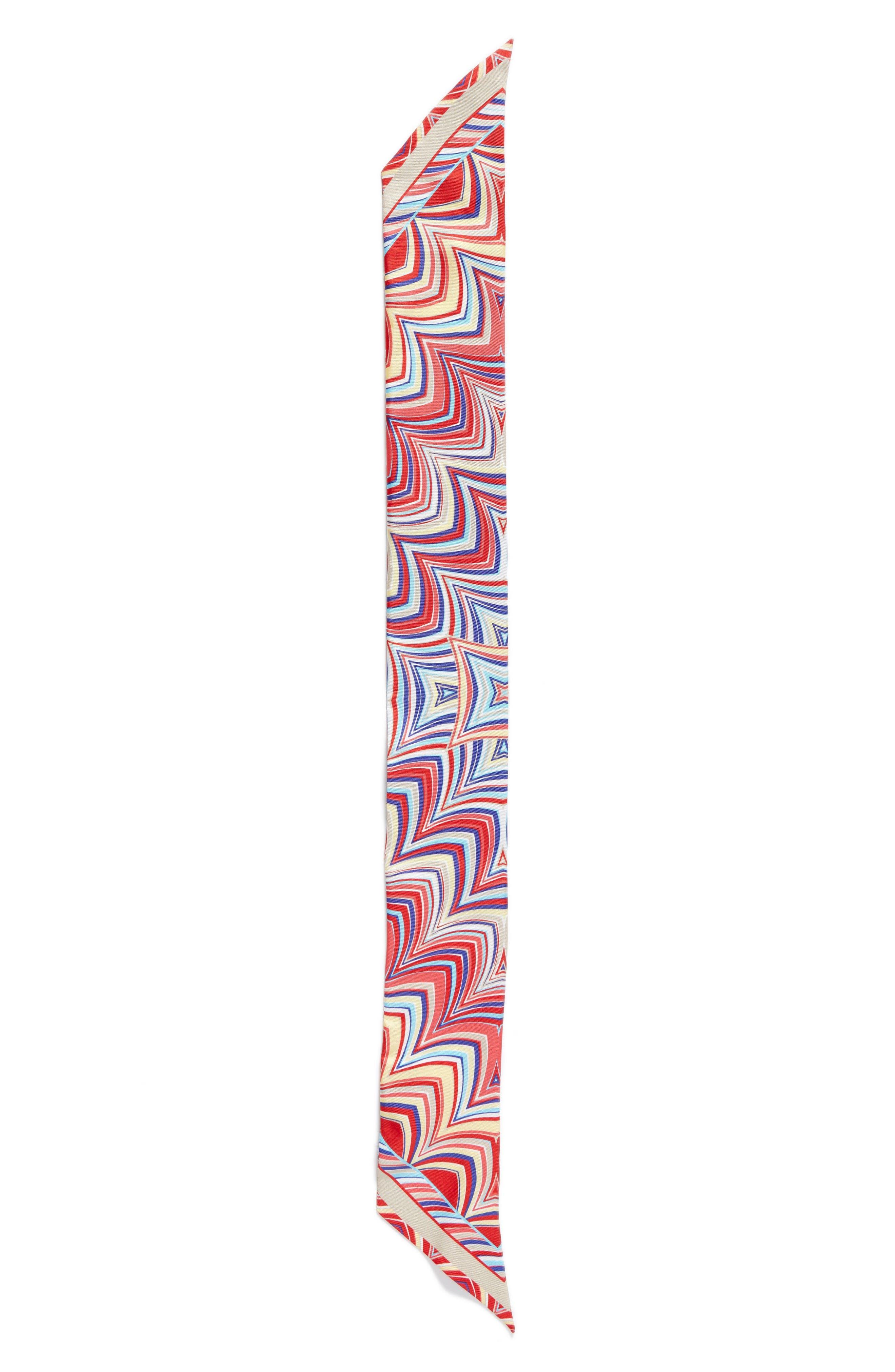 Missoni Print Silk Skinny Scarf