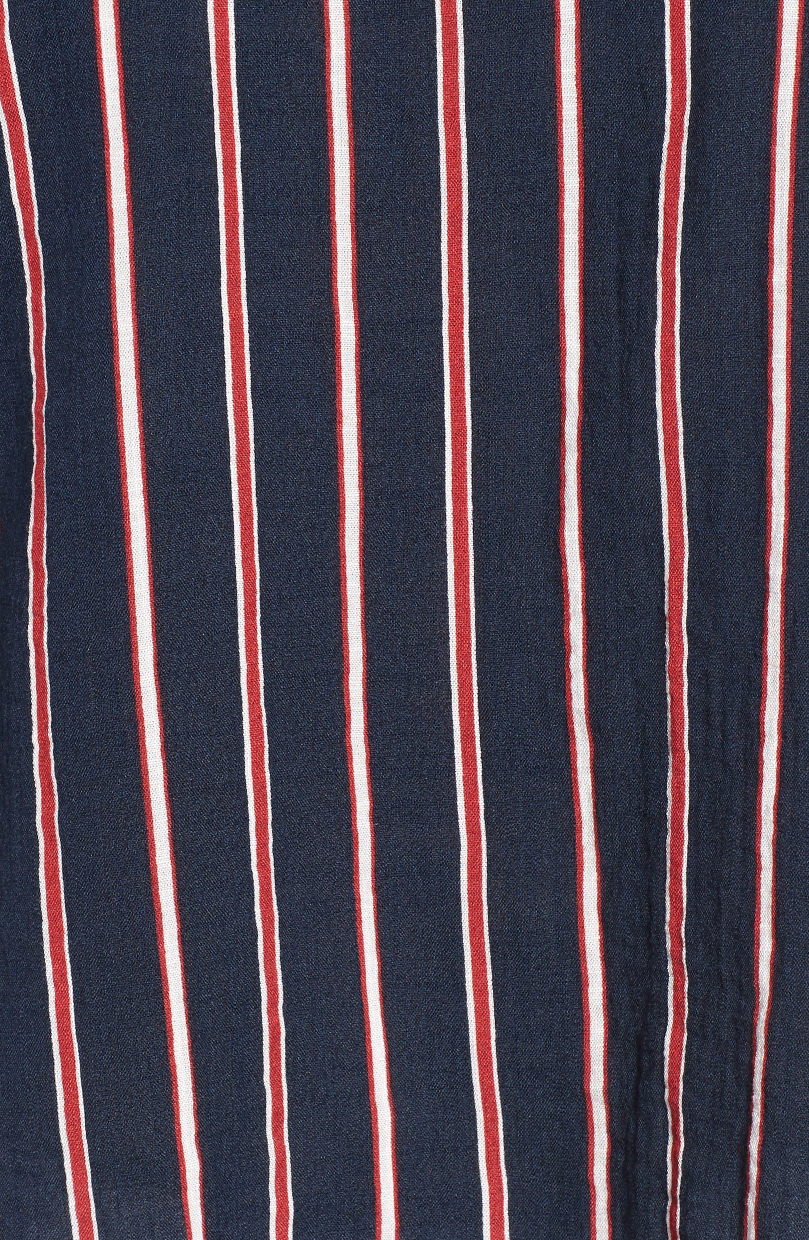 Alternate Image 5  - THML Off the Shoulder Stripe Top