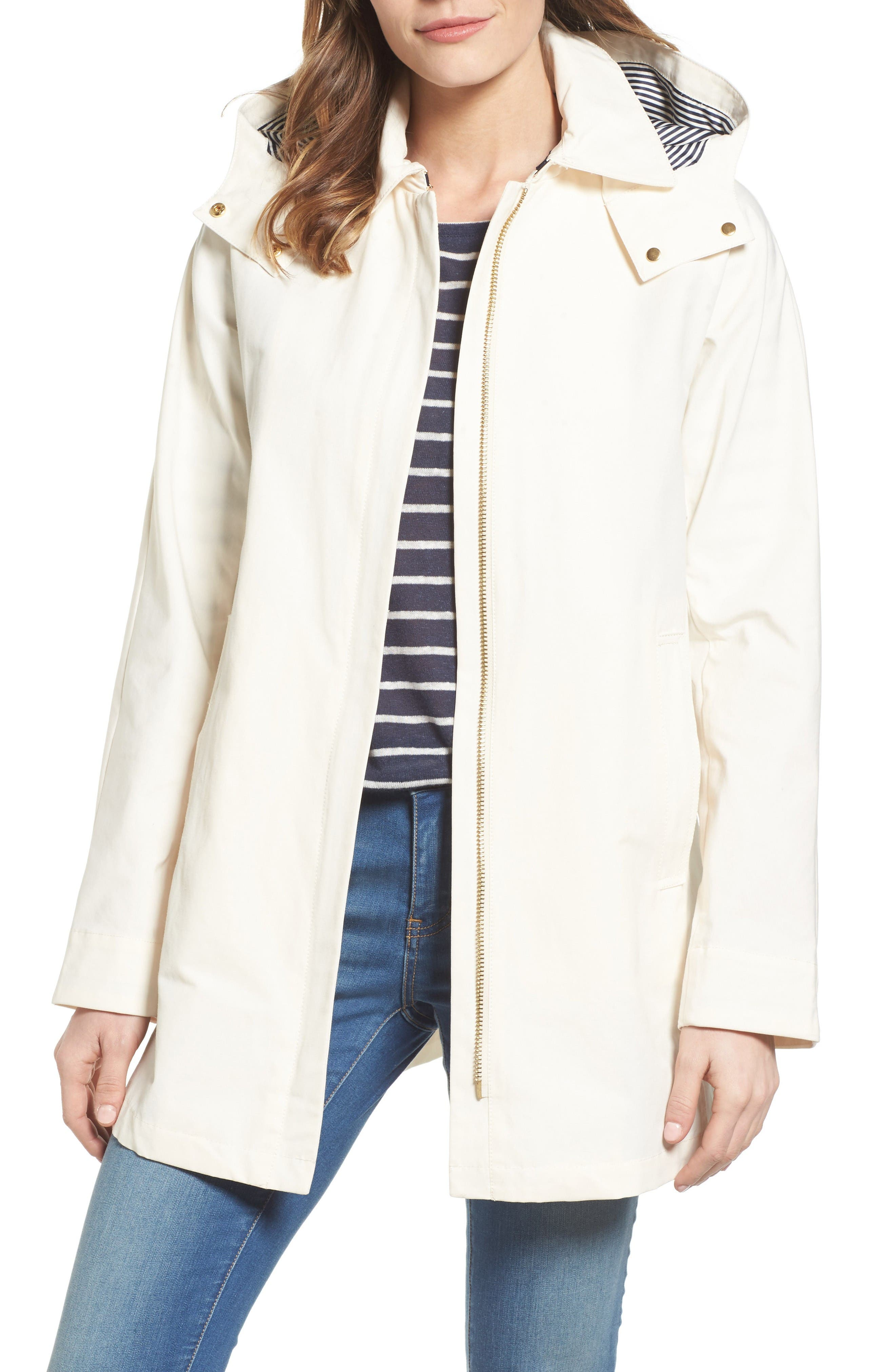 Vince Camuto Hooded Fly Front Stadium Jacket