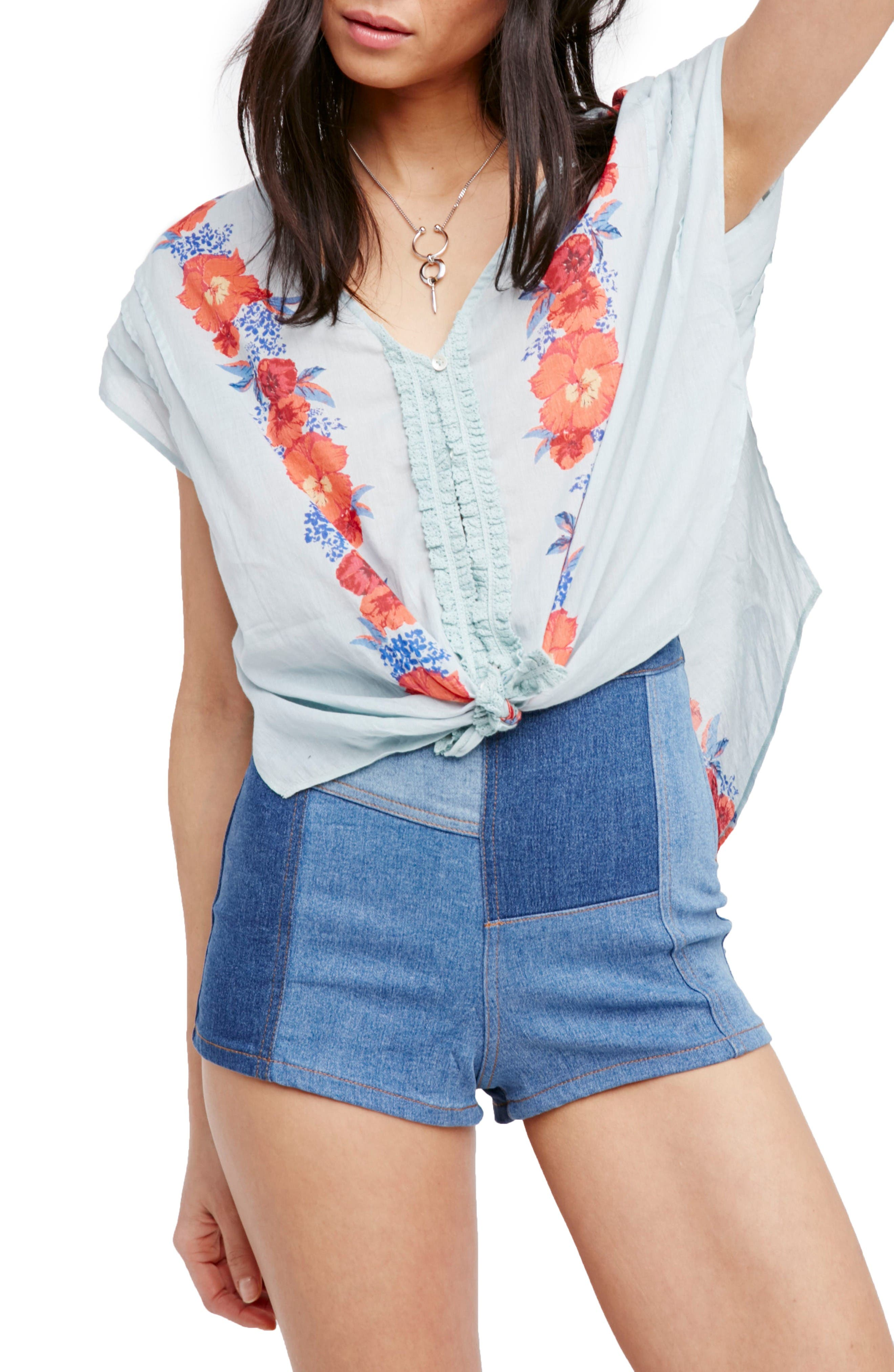 Free People Gardenia Print Top