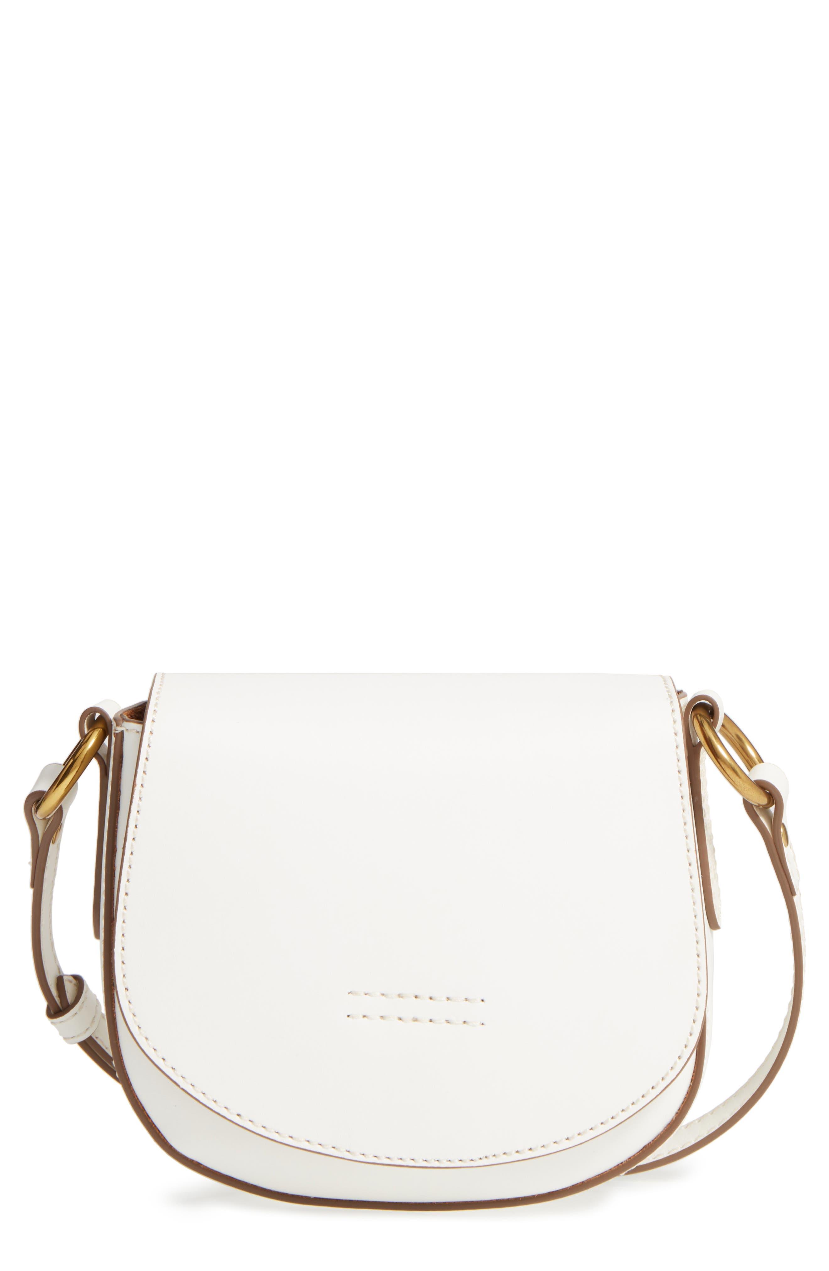 Frye Small Harness Calfskin Leather Saddle Bag