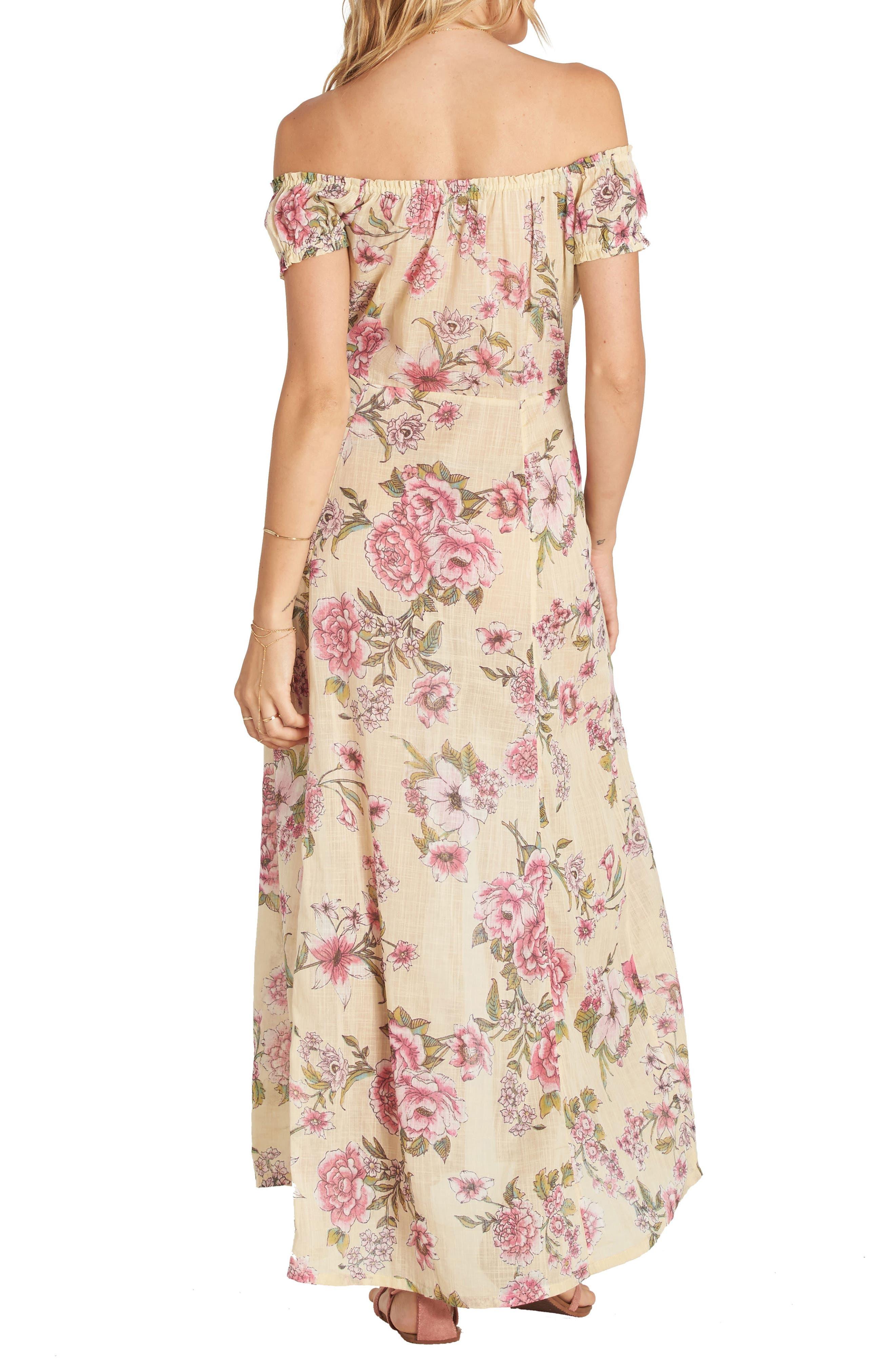 Alternate Image 2  - Billabong Linger Here Off the Shoulder Maxi Dress