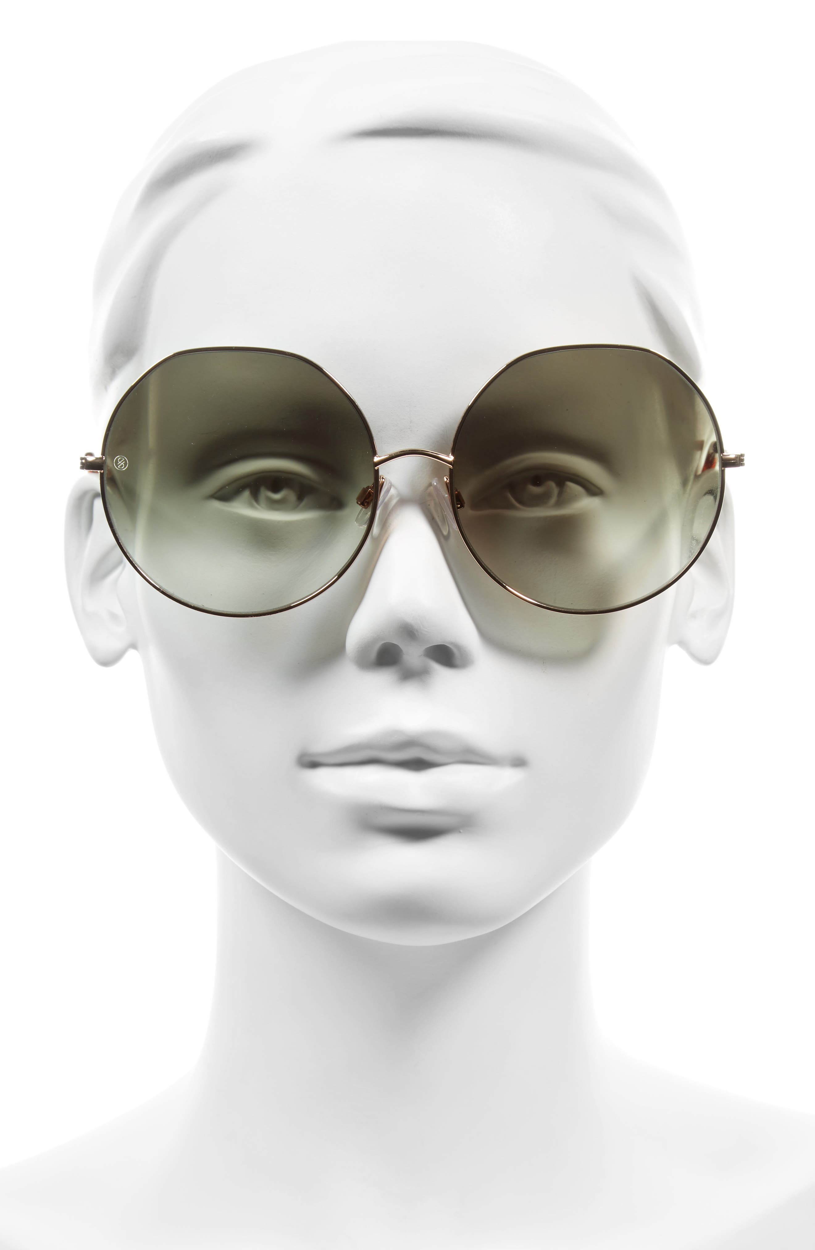 Alternate Image 2  - D'BLANC Sonic Boom 62mm Gradient Round Sunglasses