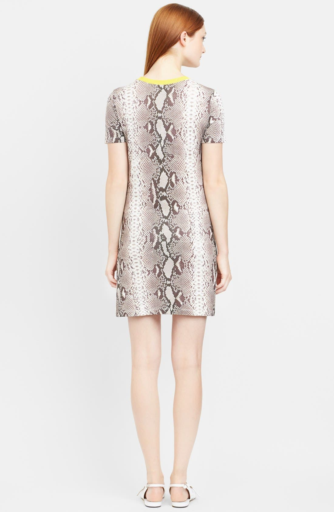 Alternate Image 2  - Carven Snakeskin Print Jersey T-Shirt Dress