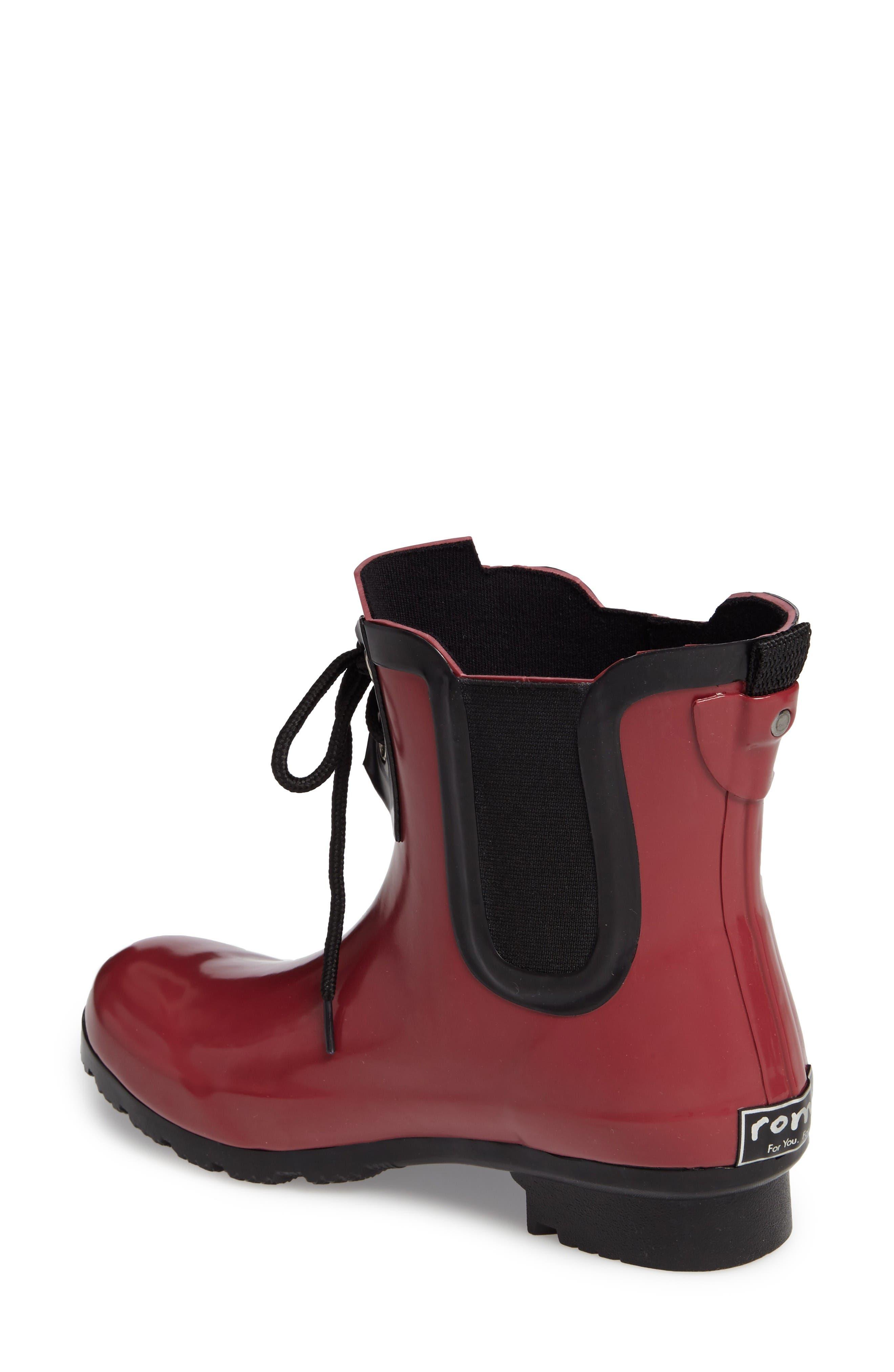 Alternate Image 2  - roma Waterproof Chelsea Rain Boot (Women)