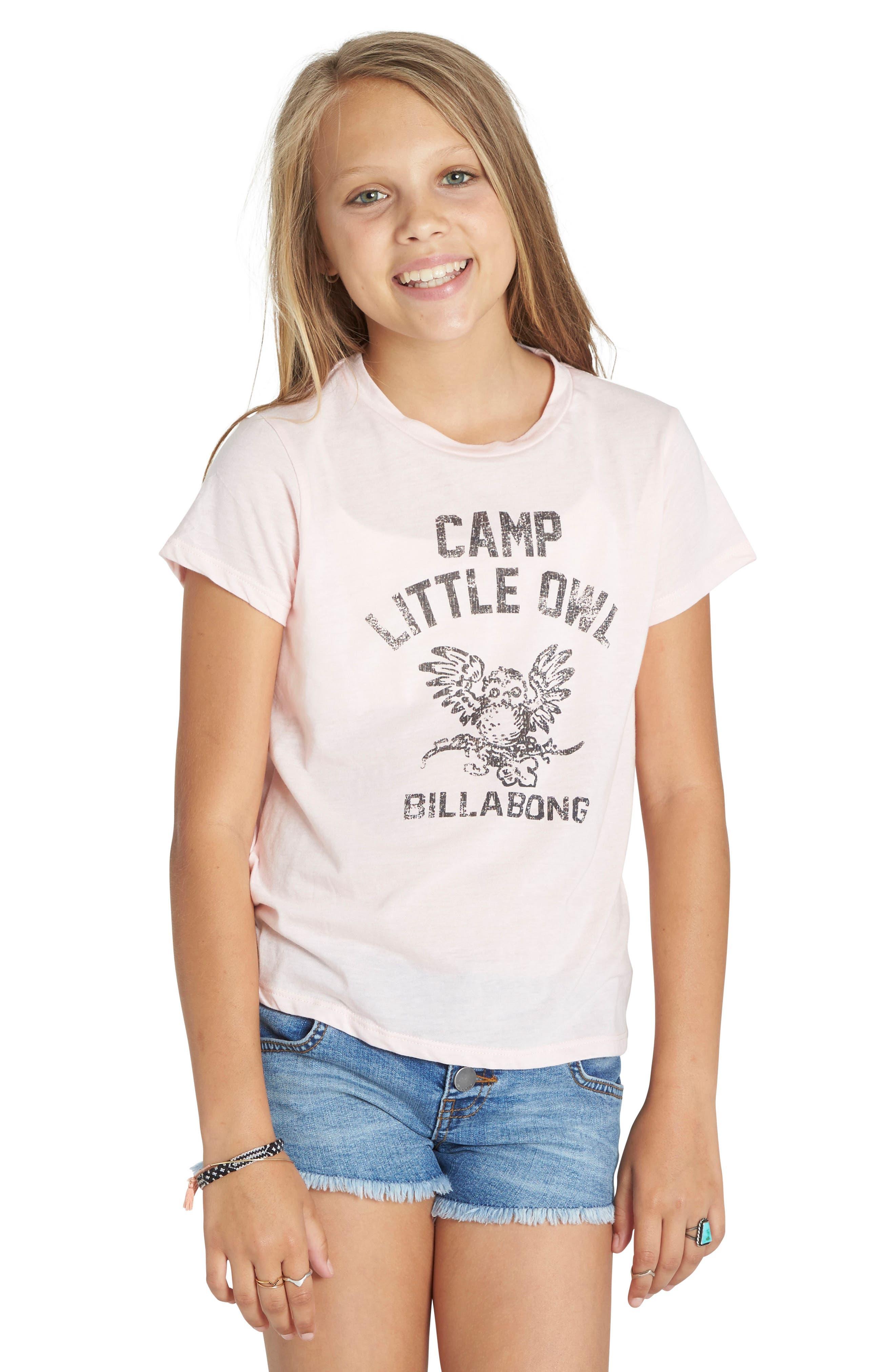 Billabong Little Owl Graphic Tee (Little Girls & Big Girls)