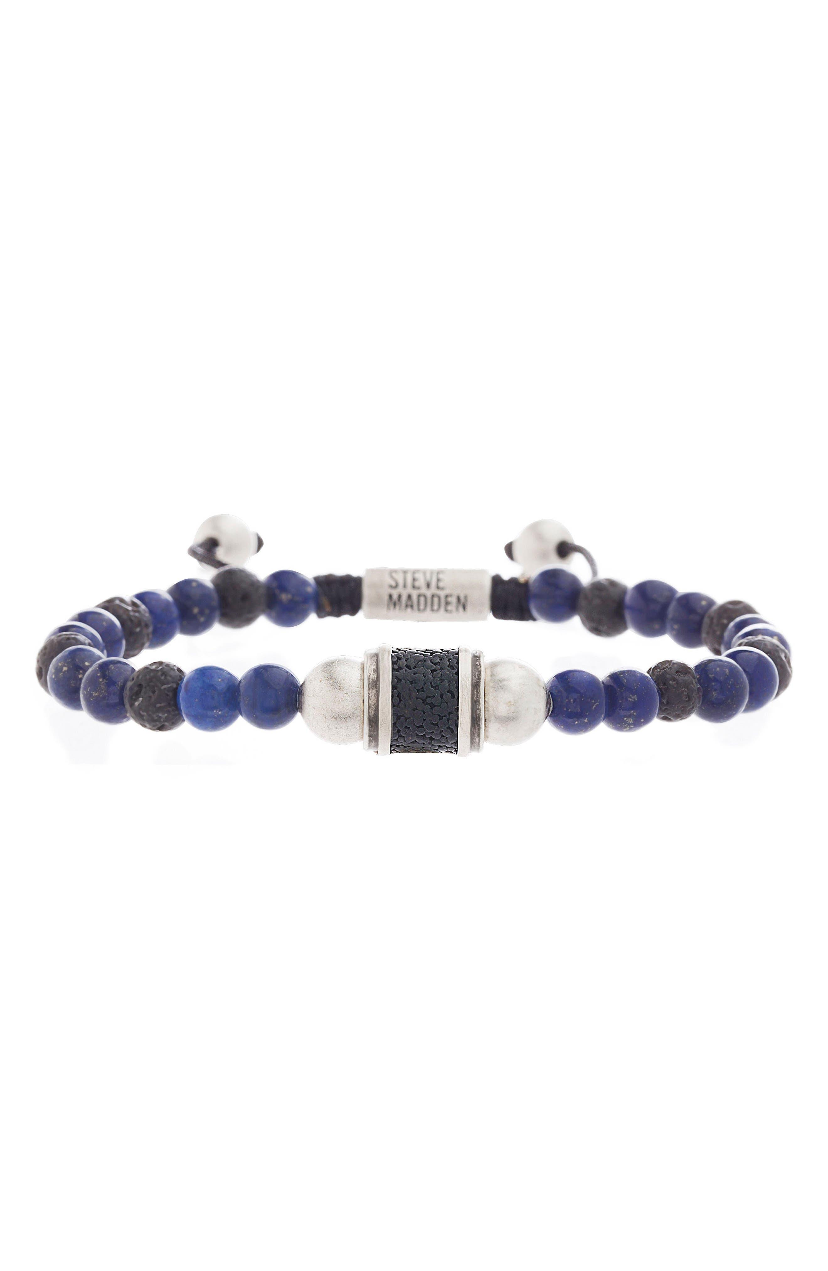 Steve Madden Lapis Lazuli Bead Bracelet