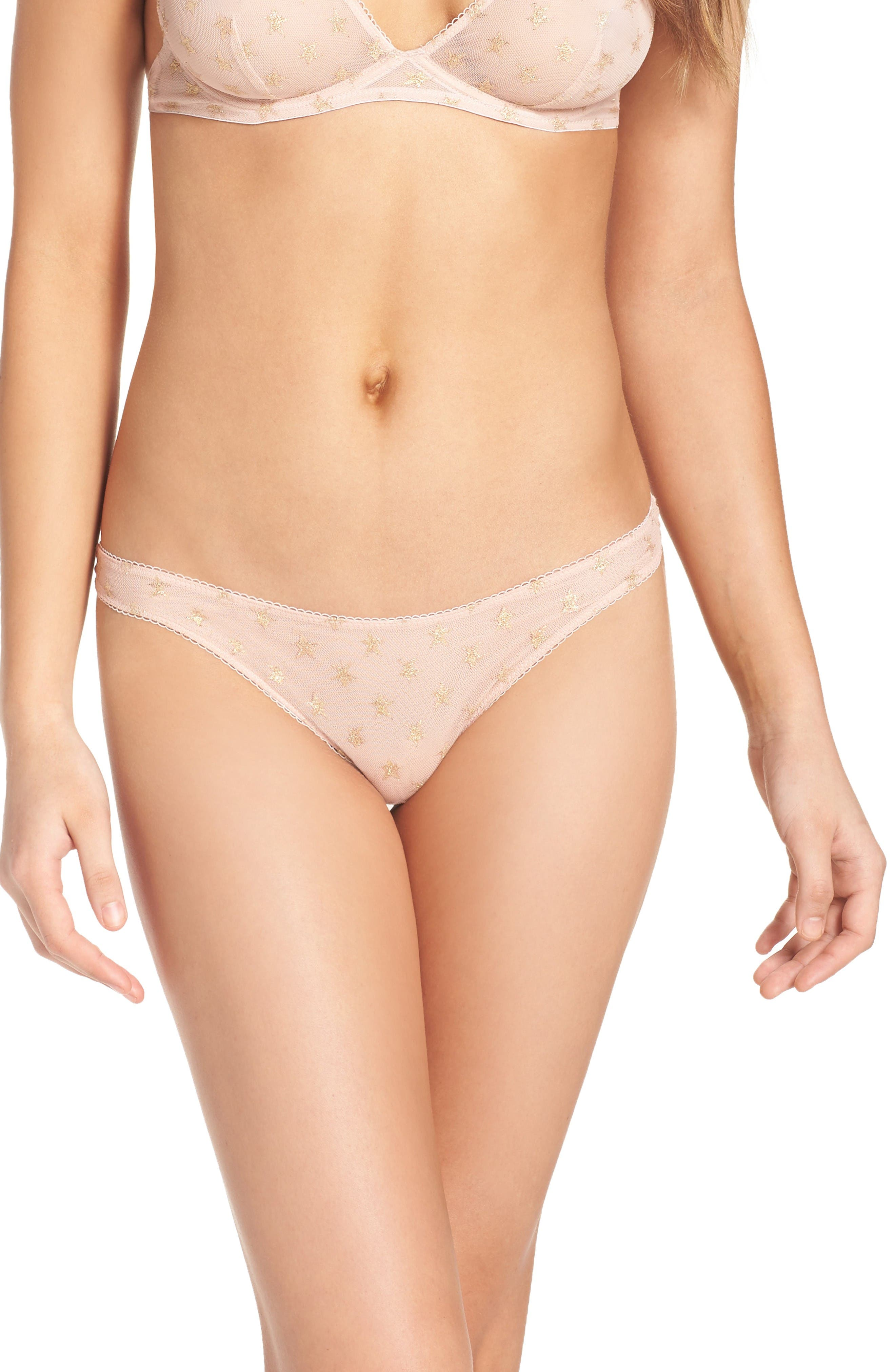Free People Intimately FP Star Mesh Thong
