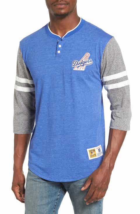 Mitchell   Ness Home Stretch - Los Angeles Dodgers Henley