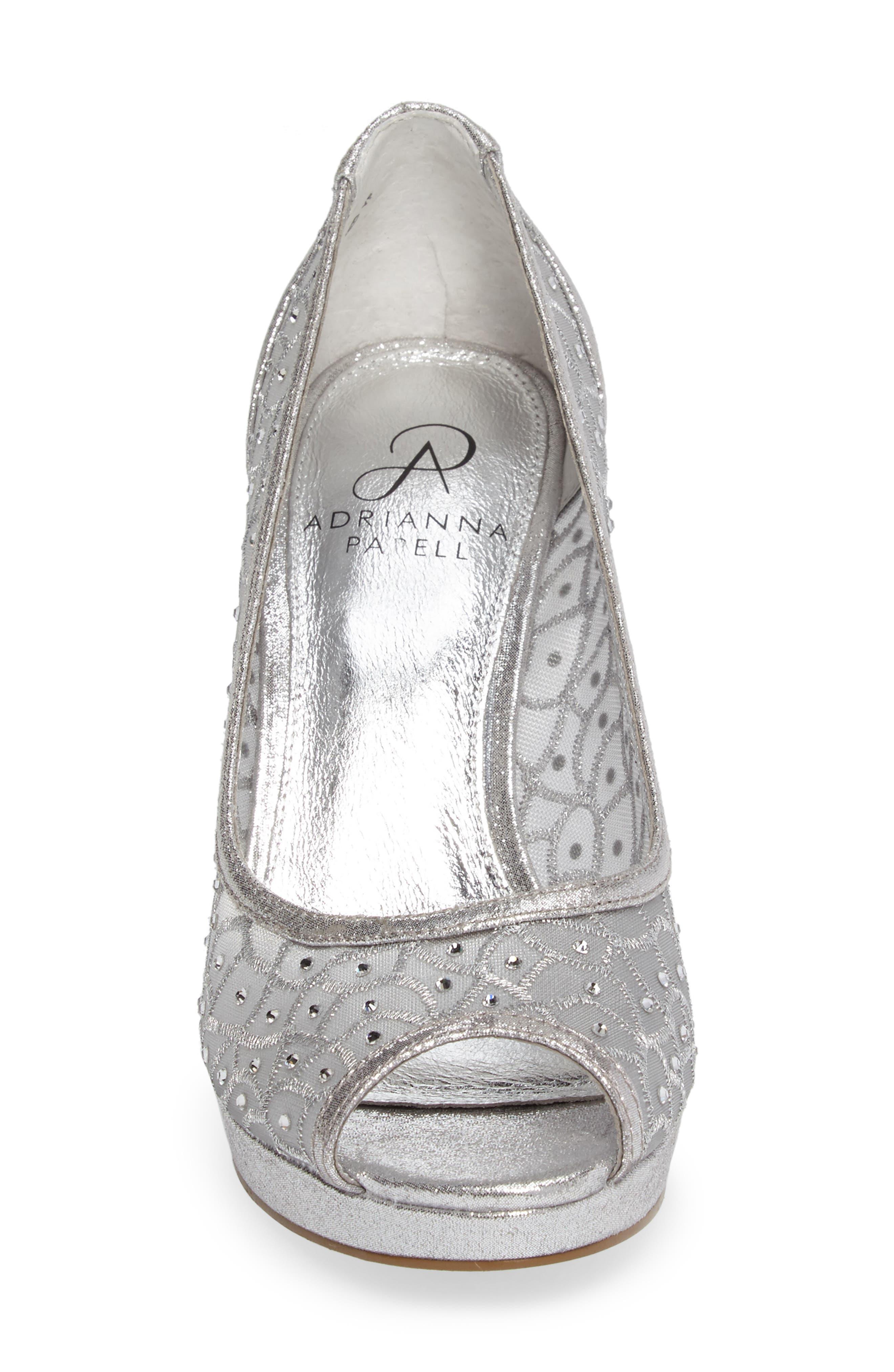 Alternate Image 4  - Adrianna Papell 'Foxy' Crystal Embellished Peeptoe Pump (Women)
