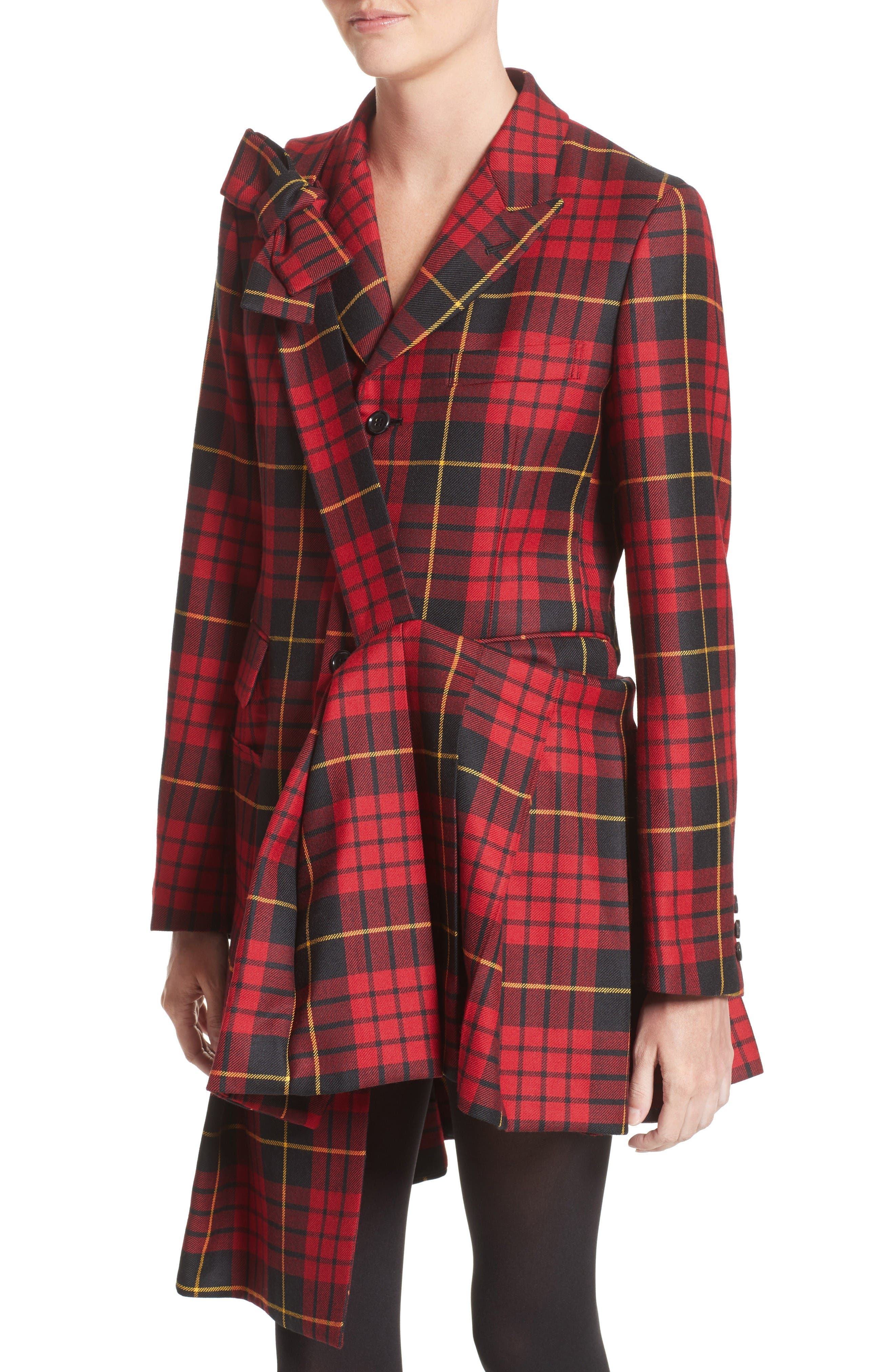 Alternate Image 6  - Comme des Garçons Tartan Plaid Wool Jacket