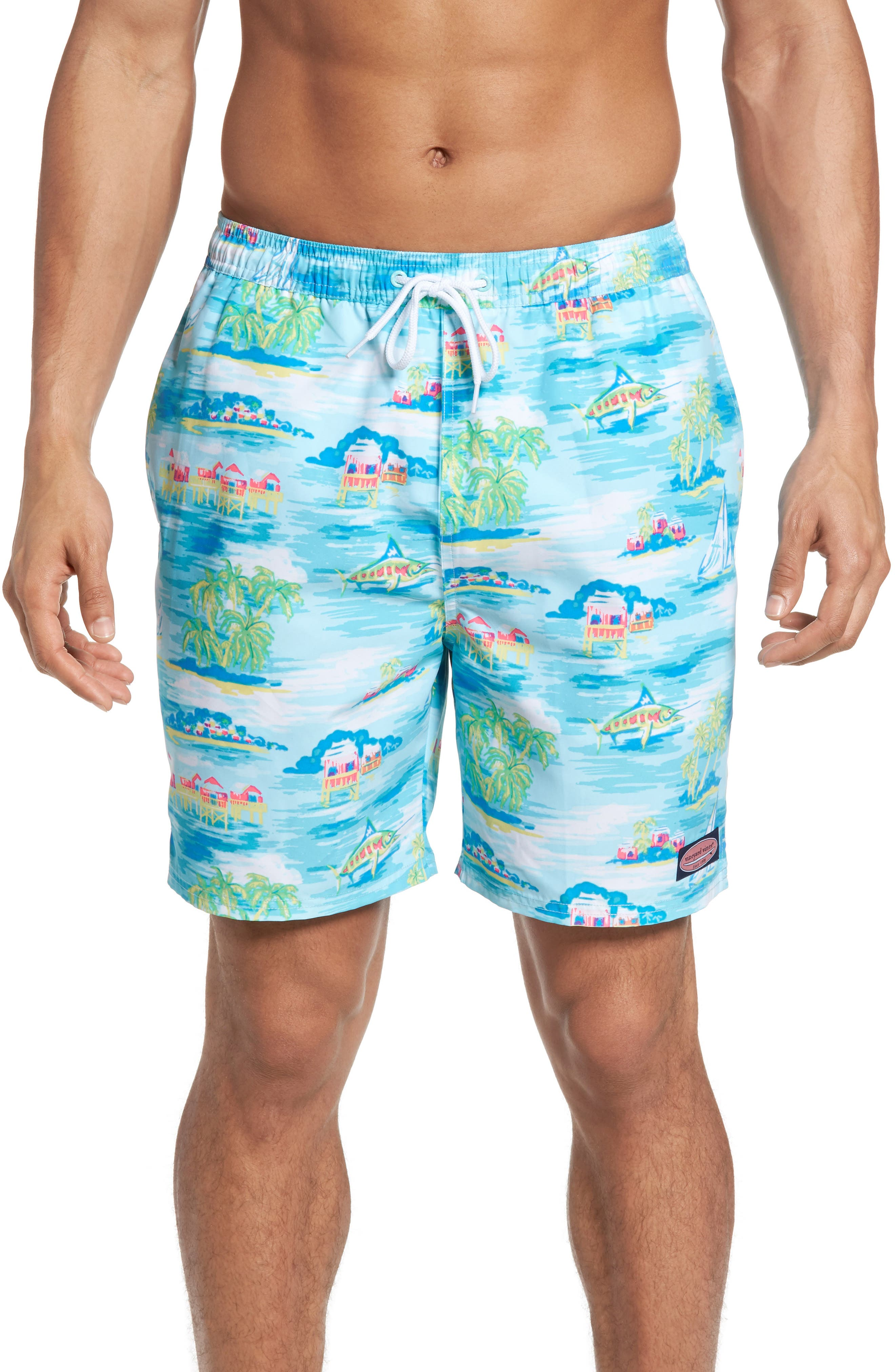 Vineyard Vines Beach Hut Scenic Chappy Swim Trunks