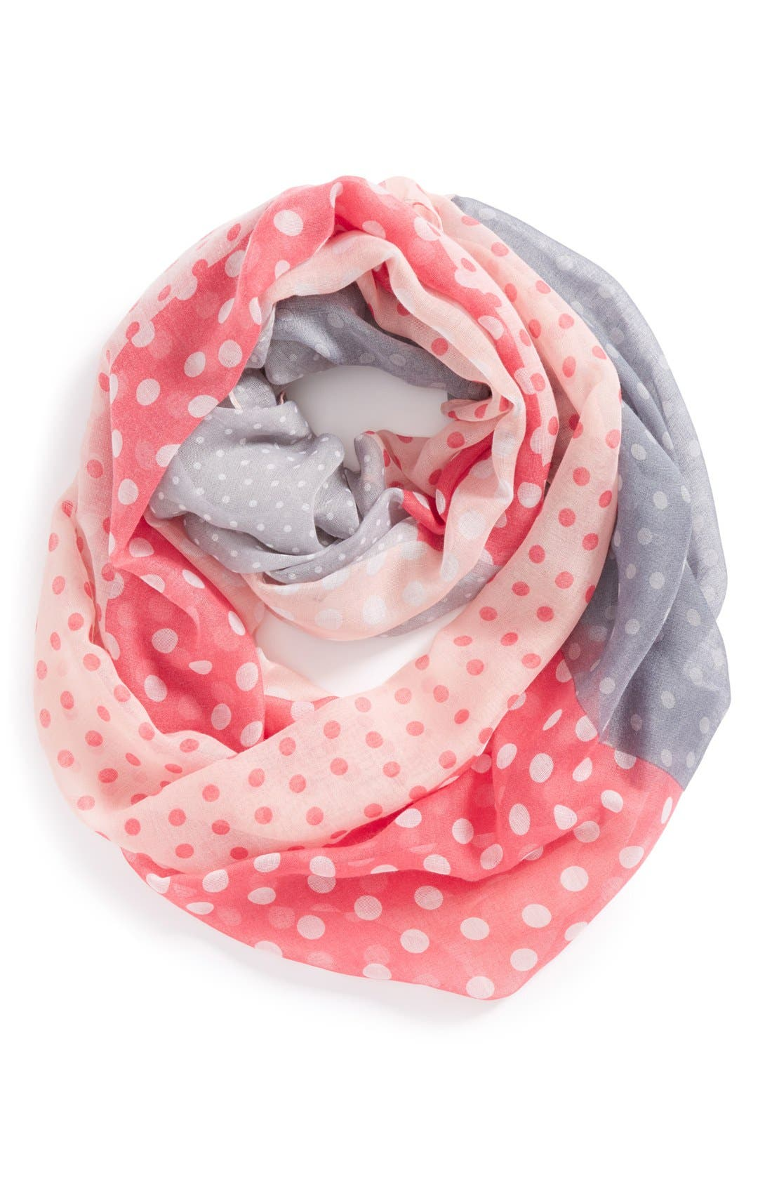Main Image - The Accessory Collective Woven Polka Dot Infinity Scarf (Girls)
