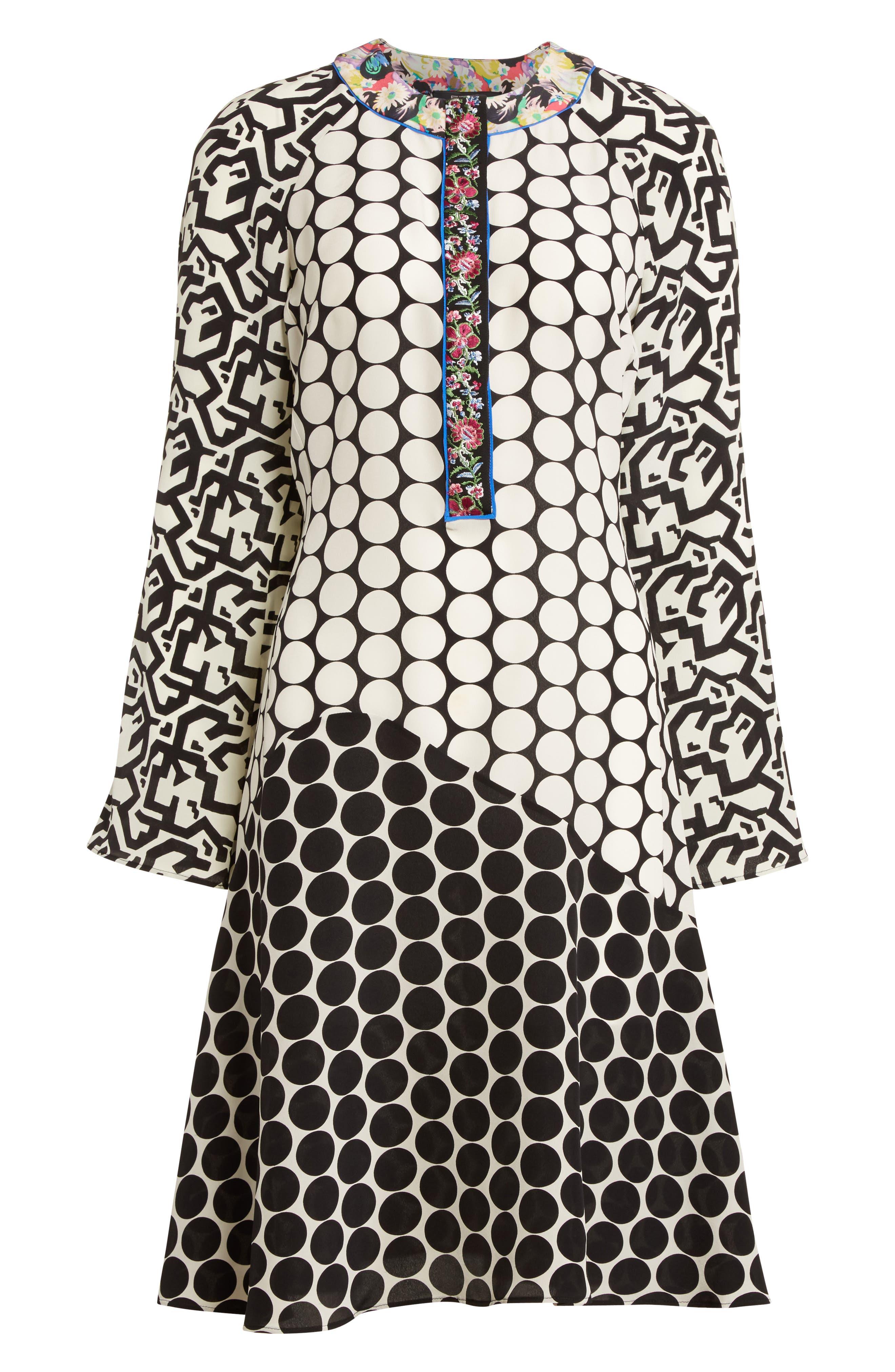 Alternate Image 4  - Etro Polka Dot Print Silk Crêpe de Chine Flutter Dress