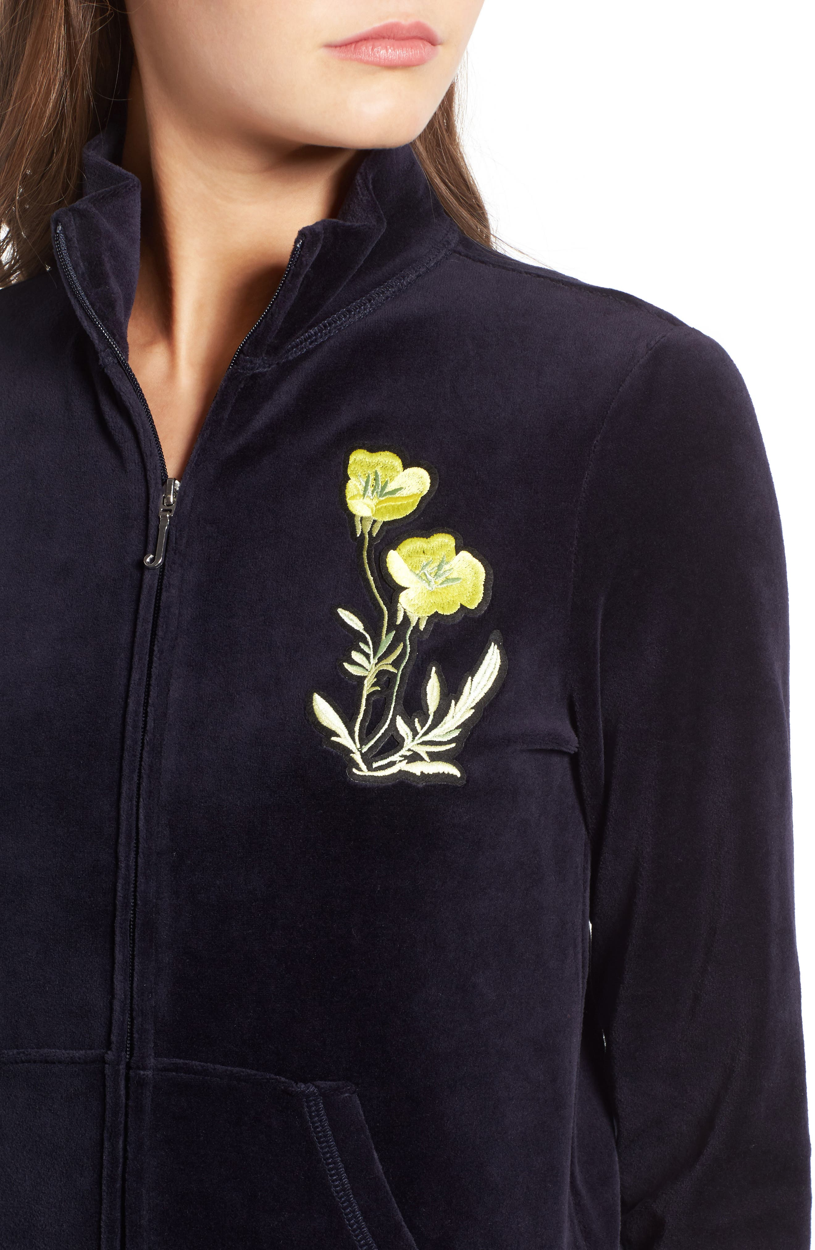 Alternate Image 4  - Juicy Couture Pretty Thing Fairfax Velour Track Jacket