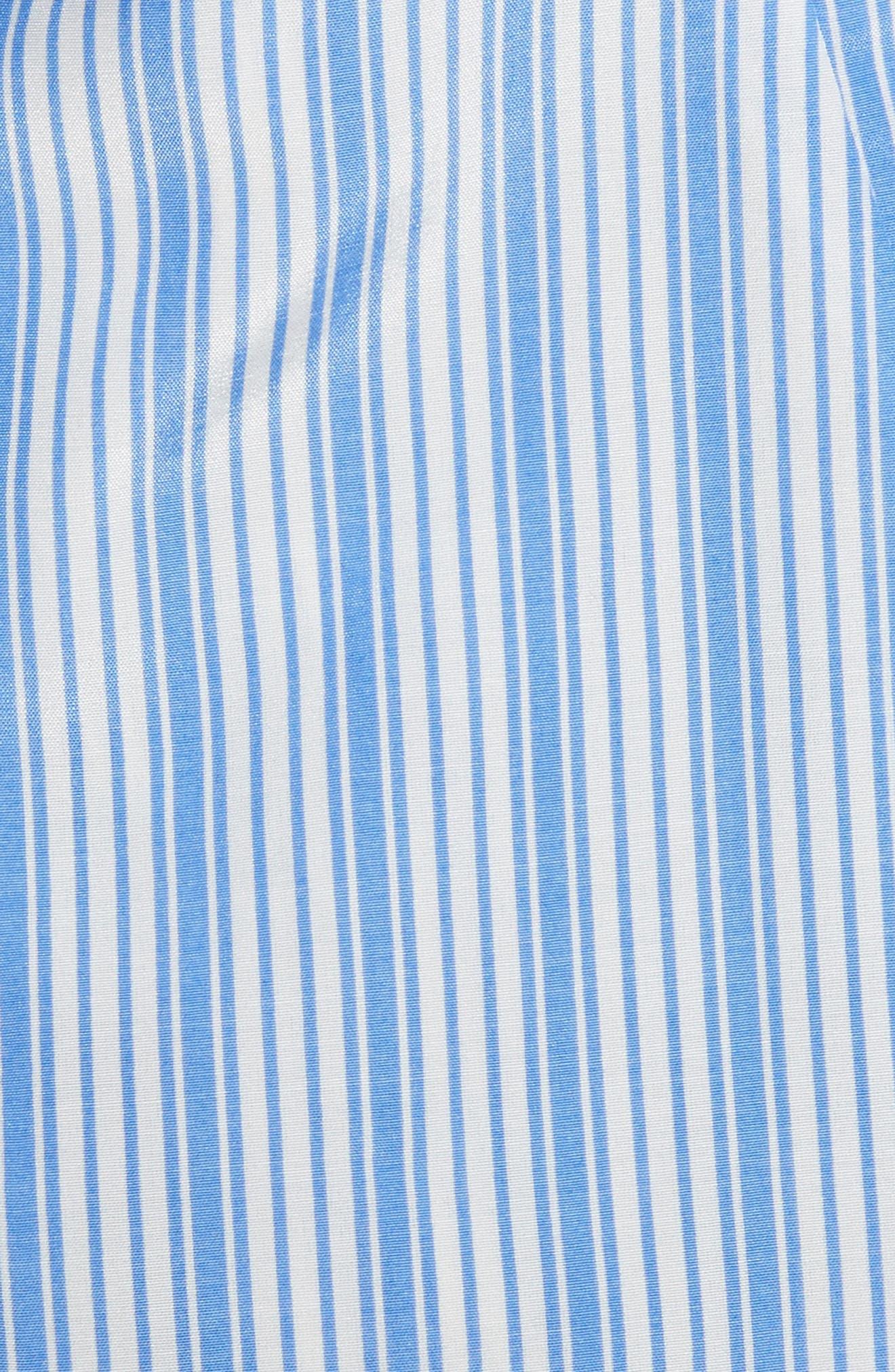 Alternate Image 5  - Milly Tie Back Stripe Peplum Top