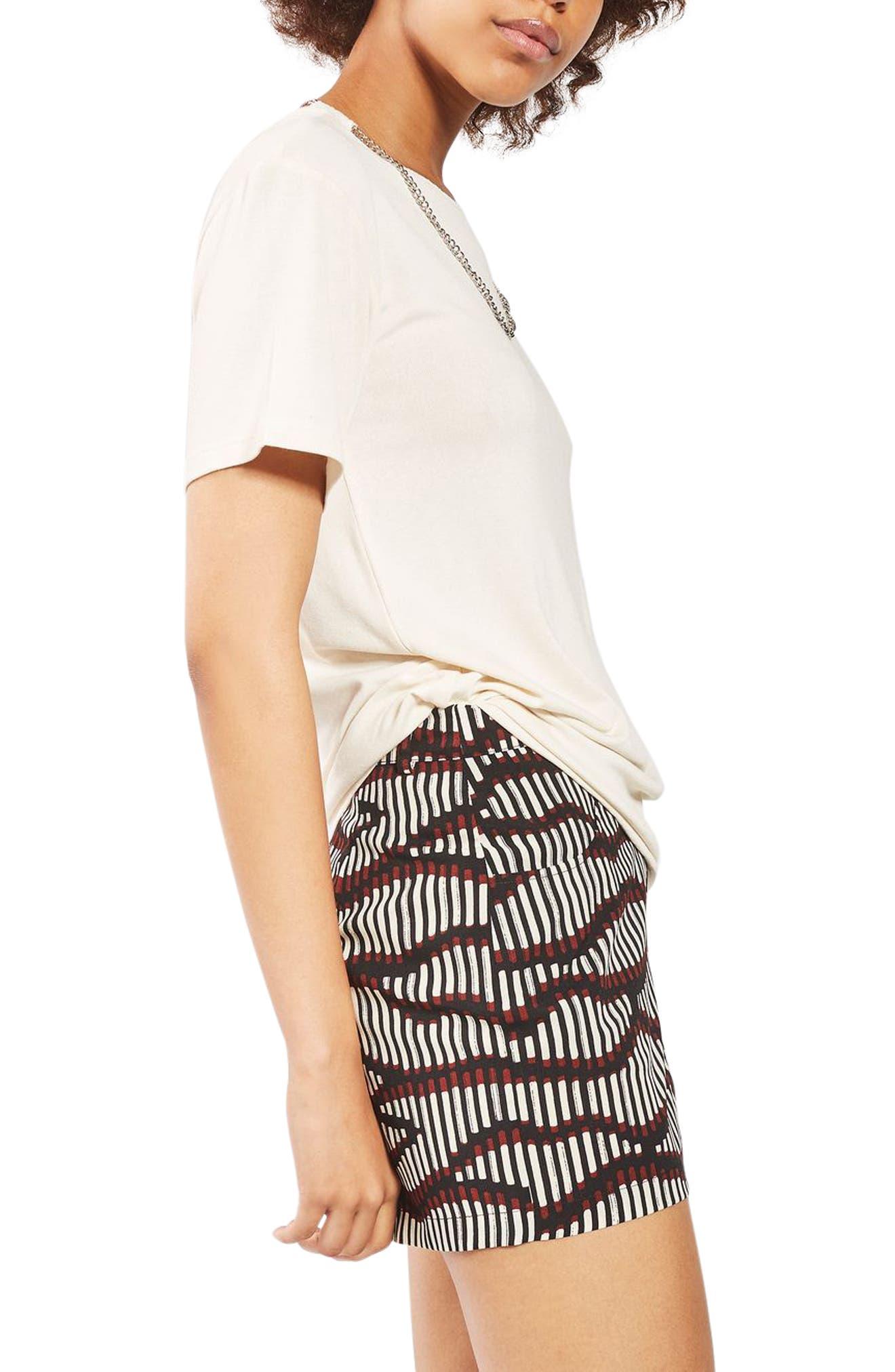 Alternate Image 4  - Topshop Matchstick Print Shorts