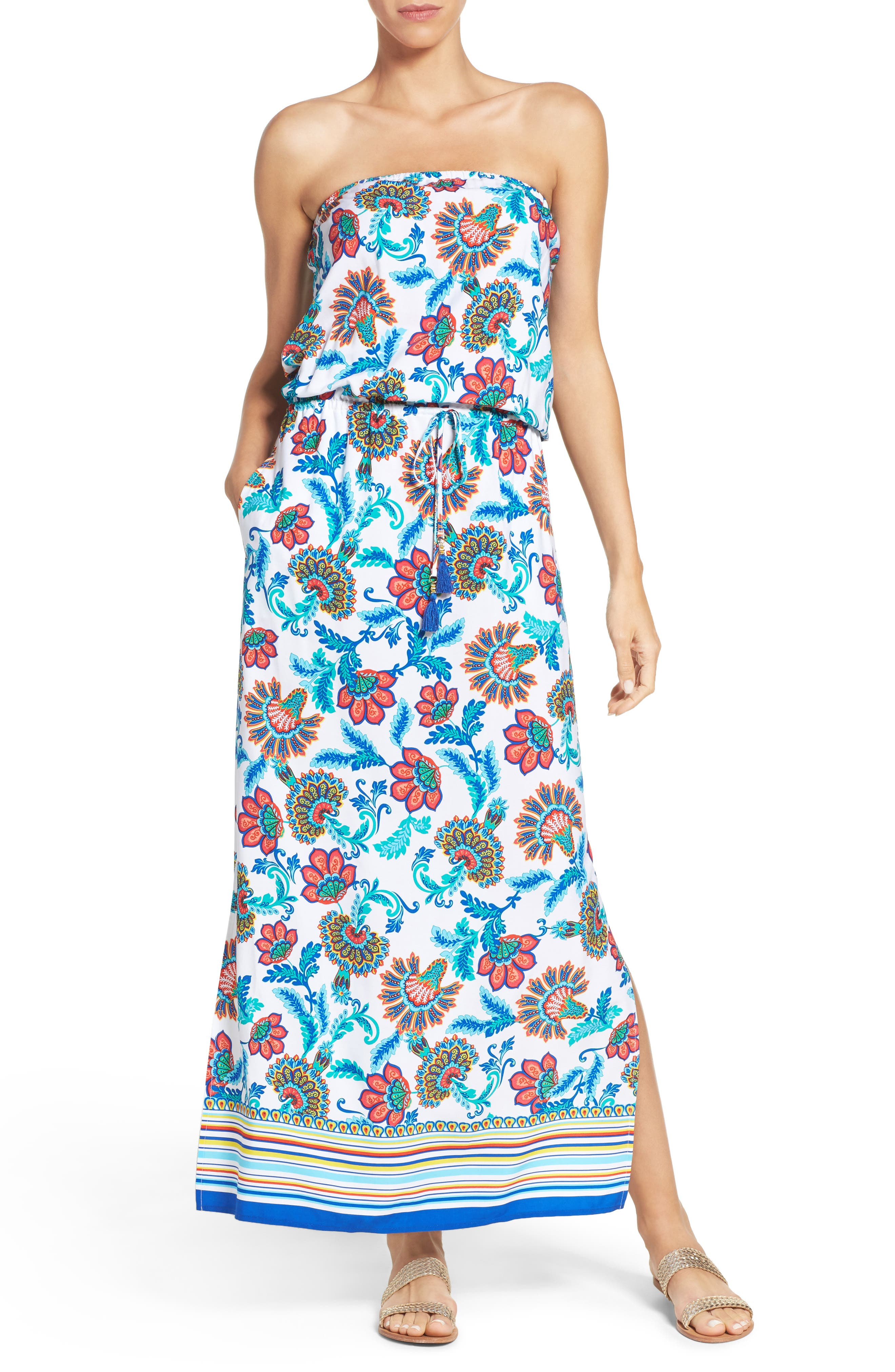 Tommy Bahama Fira Strapless Cover-Up Dress